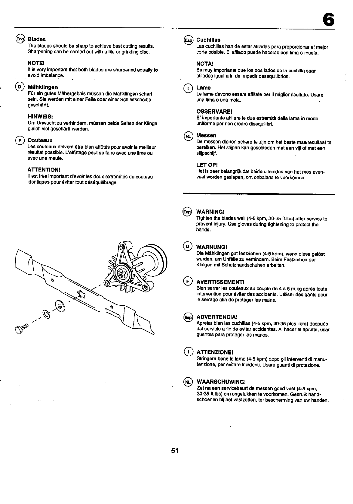 Page 51 of Craftsman Lawn Mower 25949 User Guide