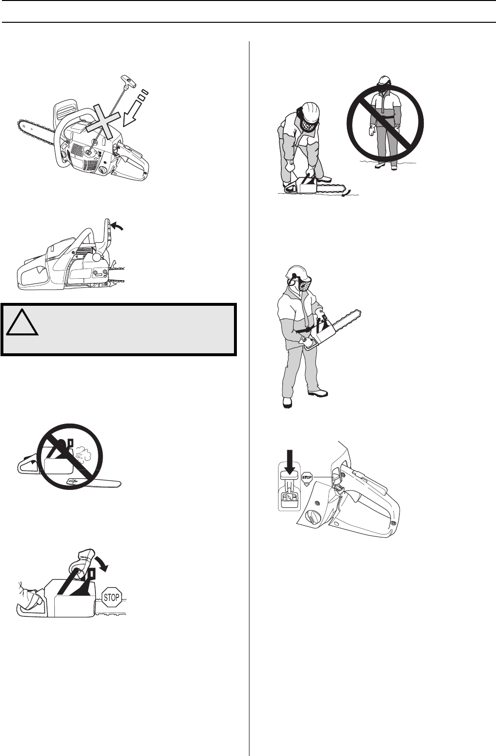 Page 20 of Husqvarna Chainsaw 455 User Guide
