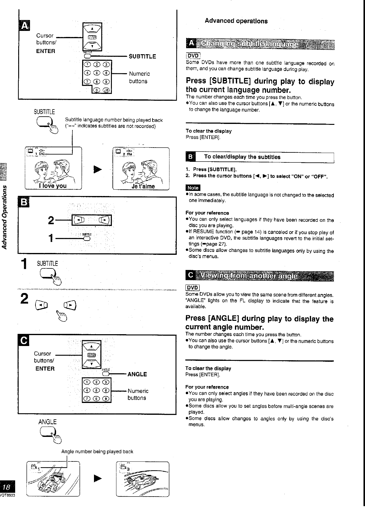 Page 18 of Panasonic DVD VCR Combo DVD-RV40 User Guide