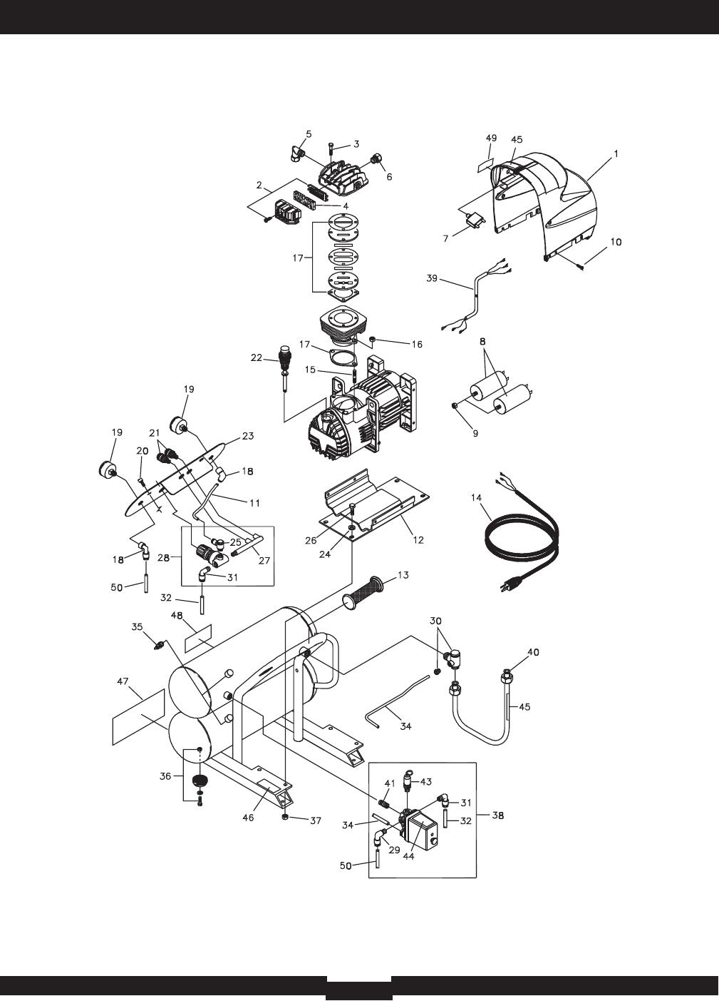 Page 2 of Briggs & Stratton Air Compressor 074001 User