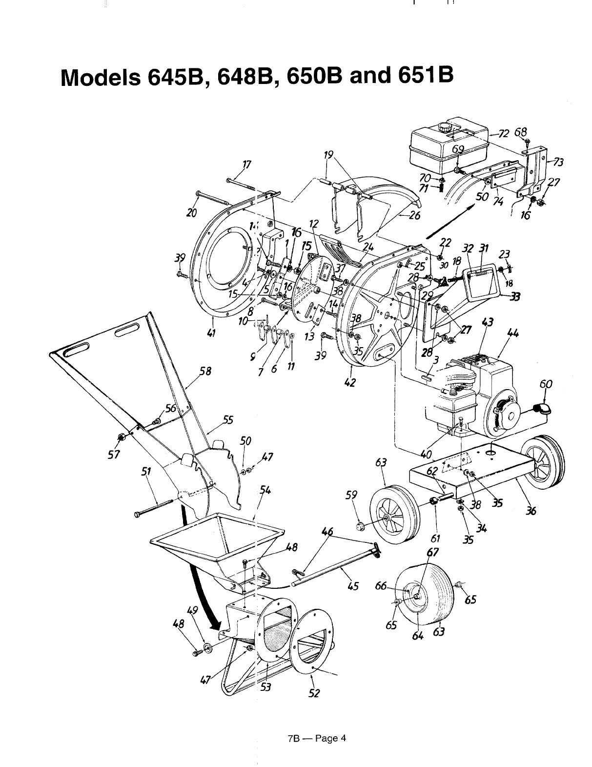 Page 4 of MTD Chipper 244-645B000 User Guide