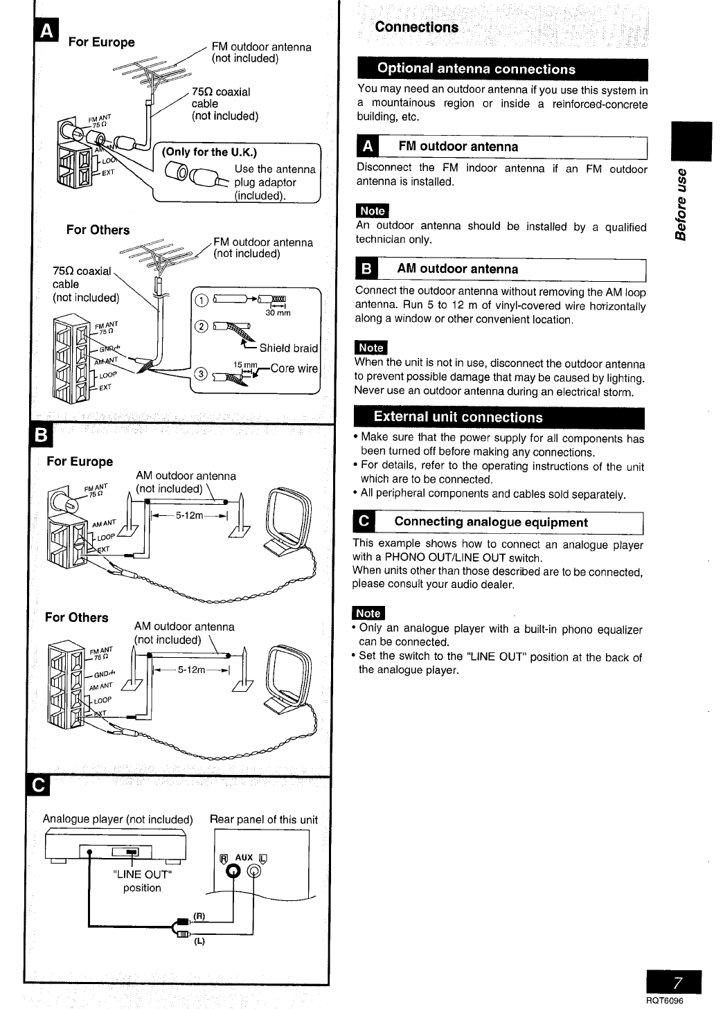 Page 7 of Panasonic Stereo System SC-PM07 User Guide