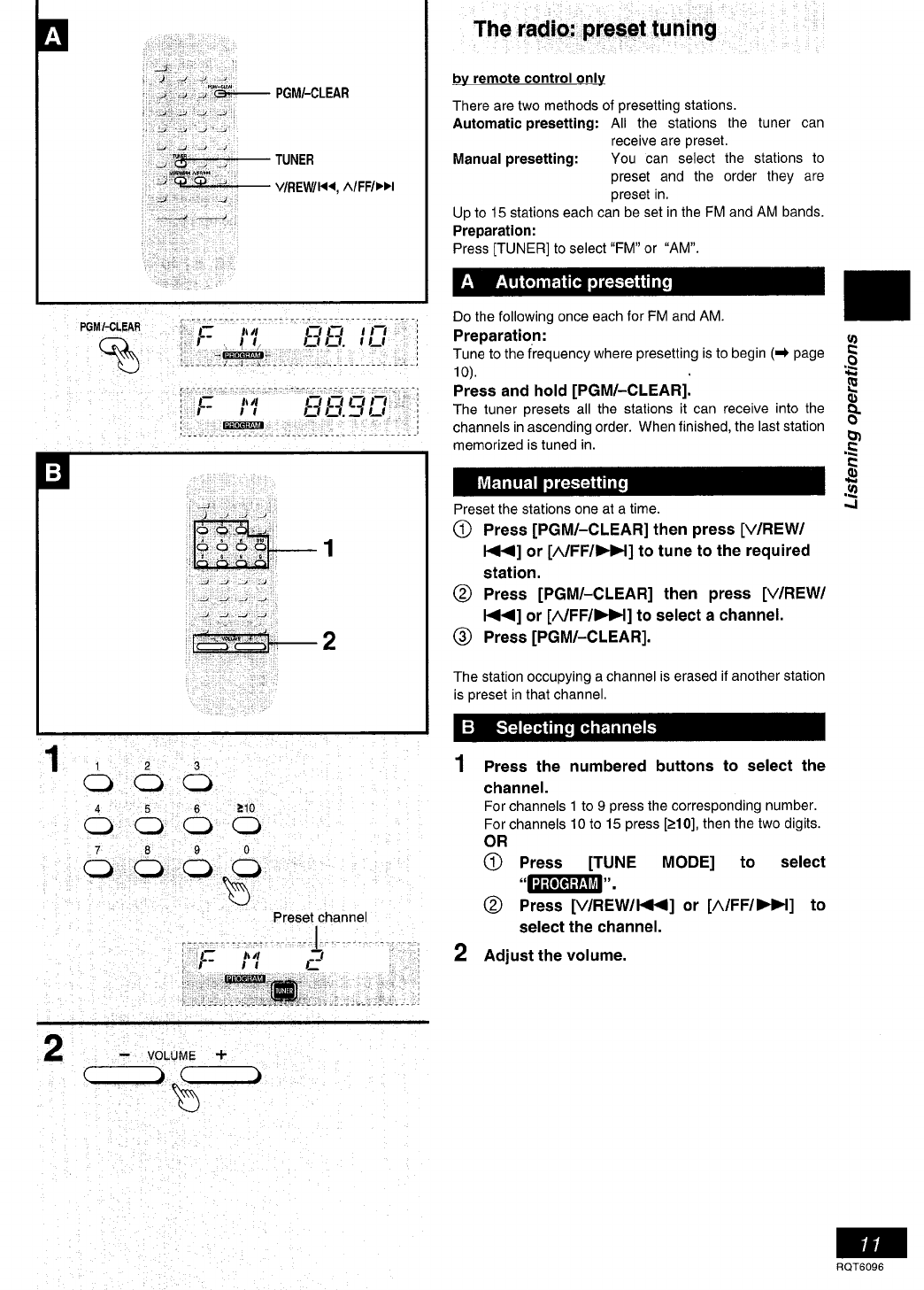 Page 11 of Panasonic Stereo System SC-PM07 User Guide