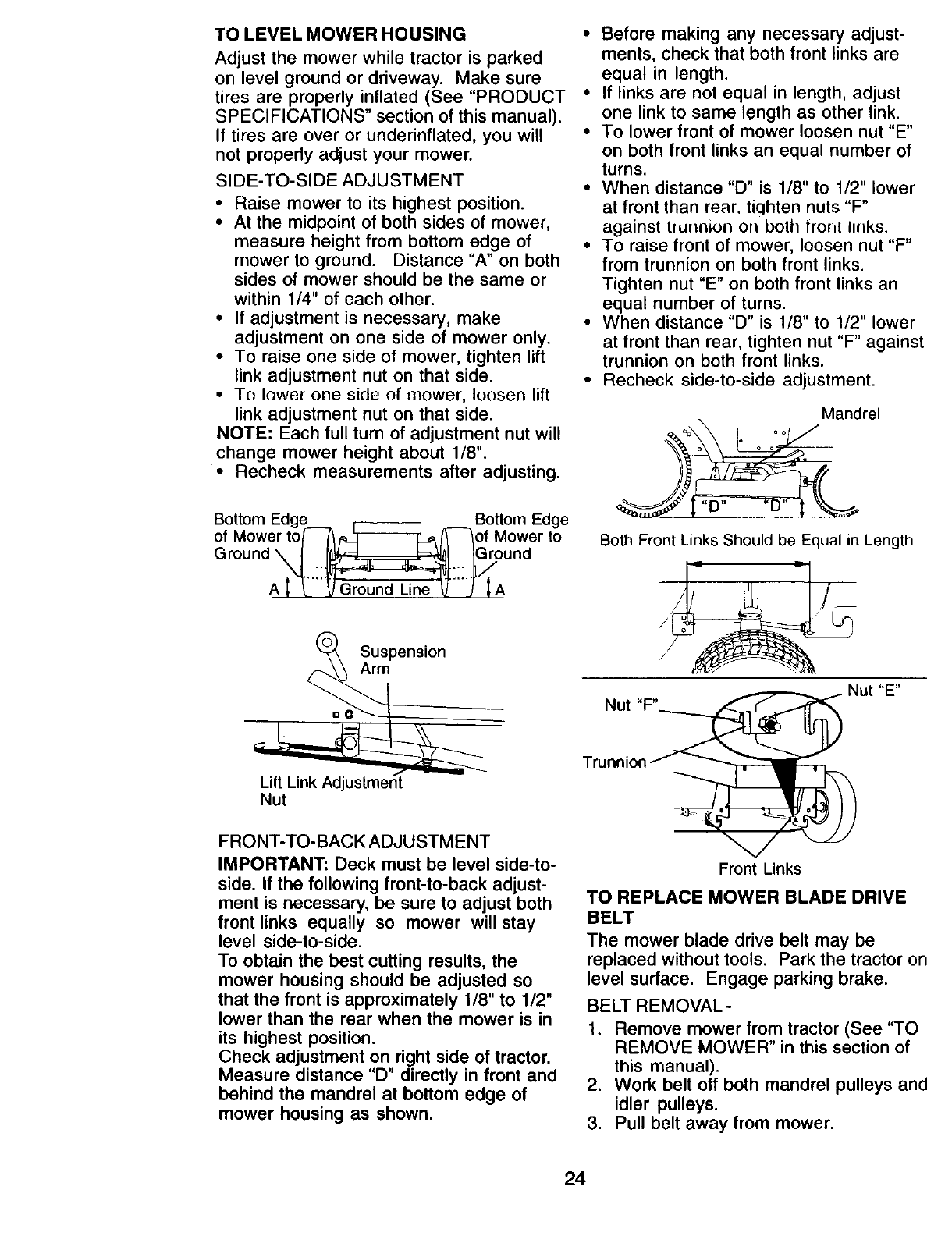 Page 24 of Craftsman Lawn Mower 917.271815 User Guide