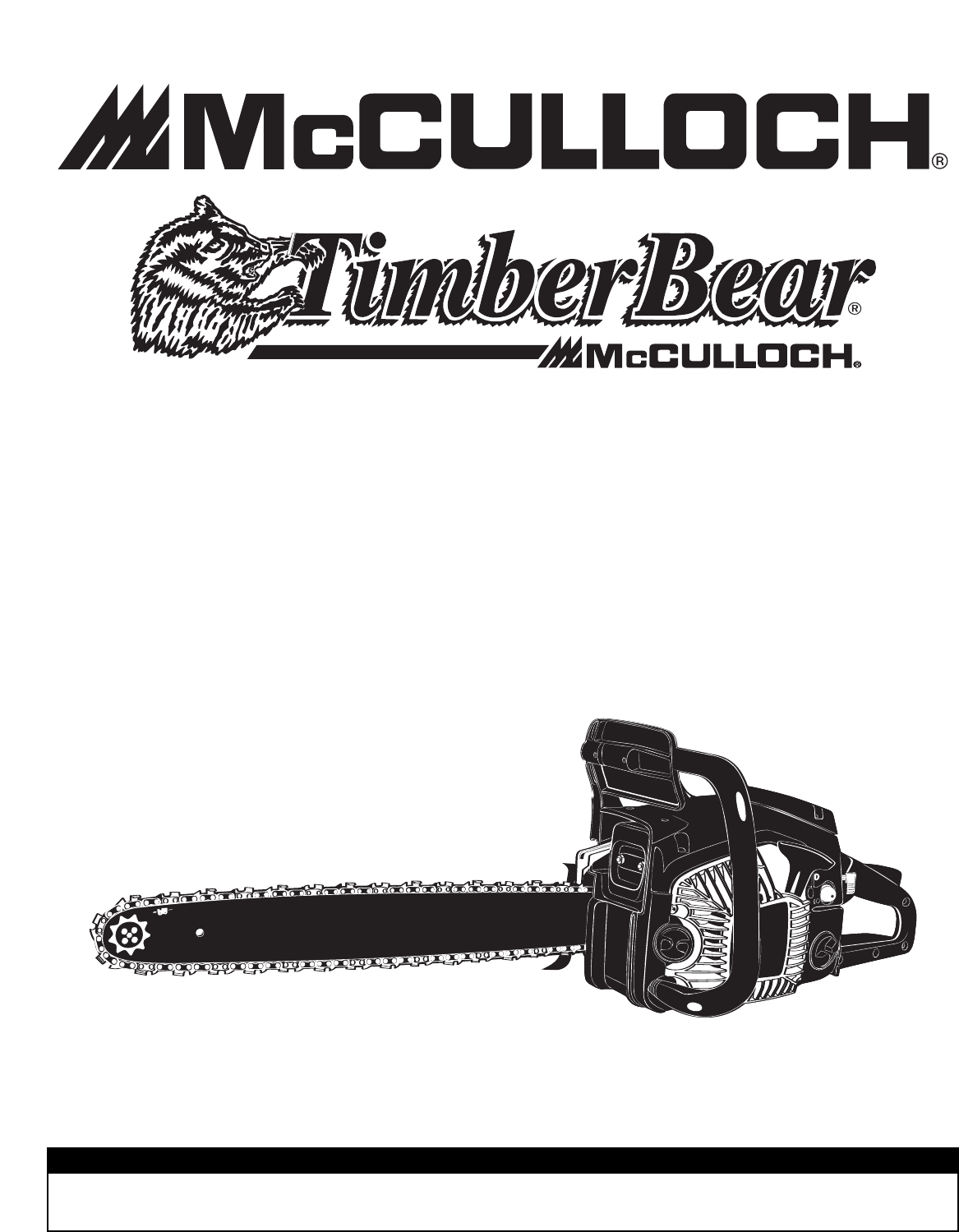 Page 42 of McCulloch Chainsaw TM502 User Guide