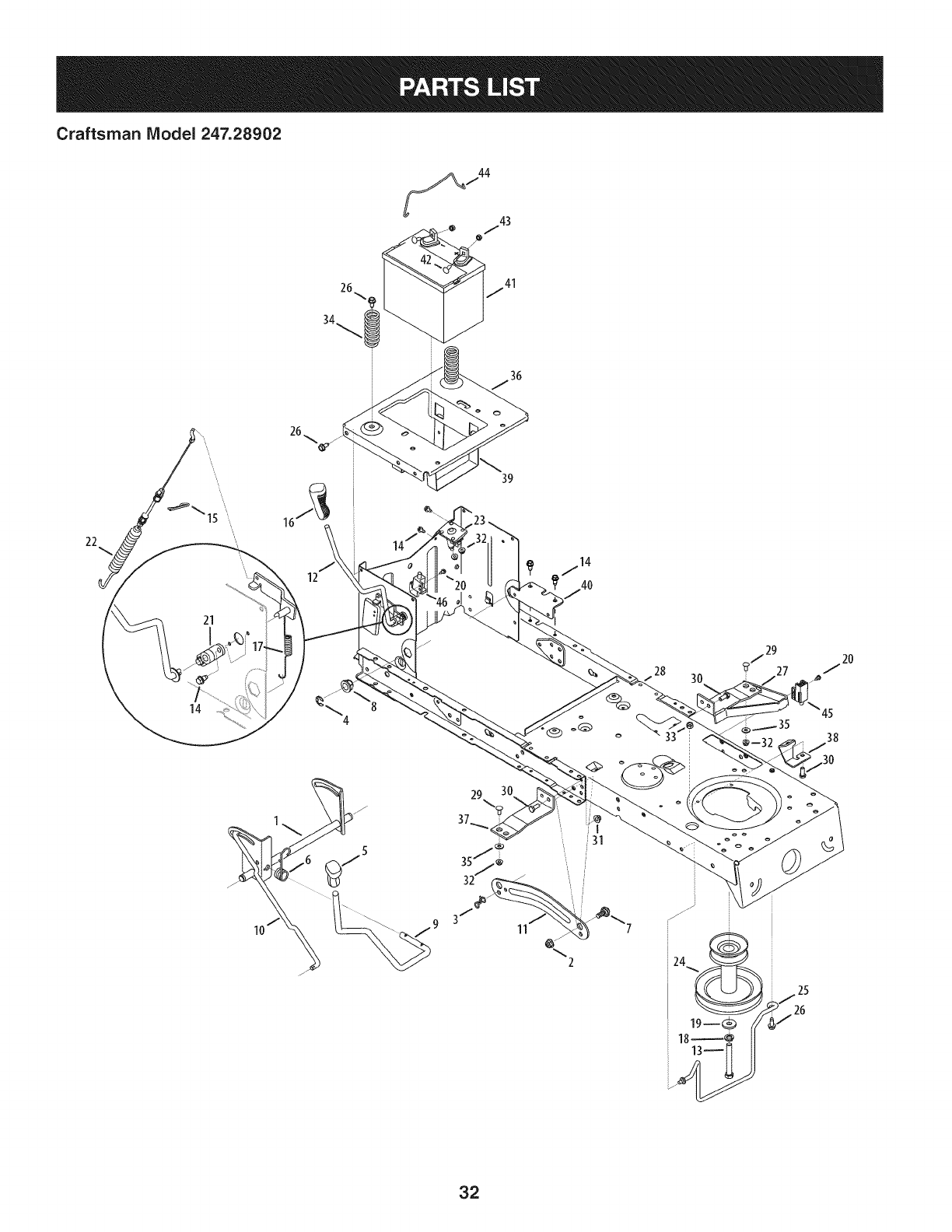Page 32 of Craftsman Lawn Mower 247.28902 User Guide
