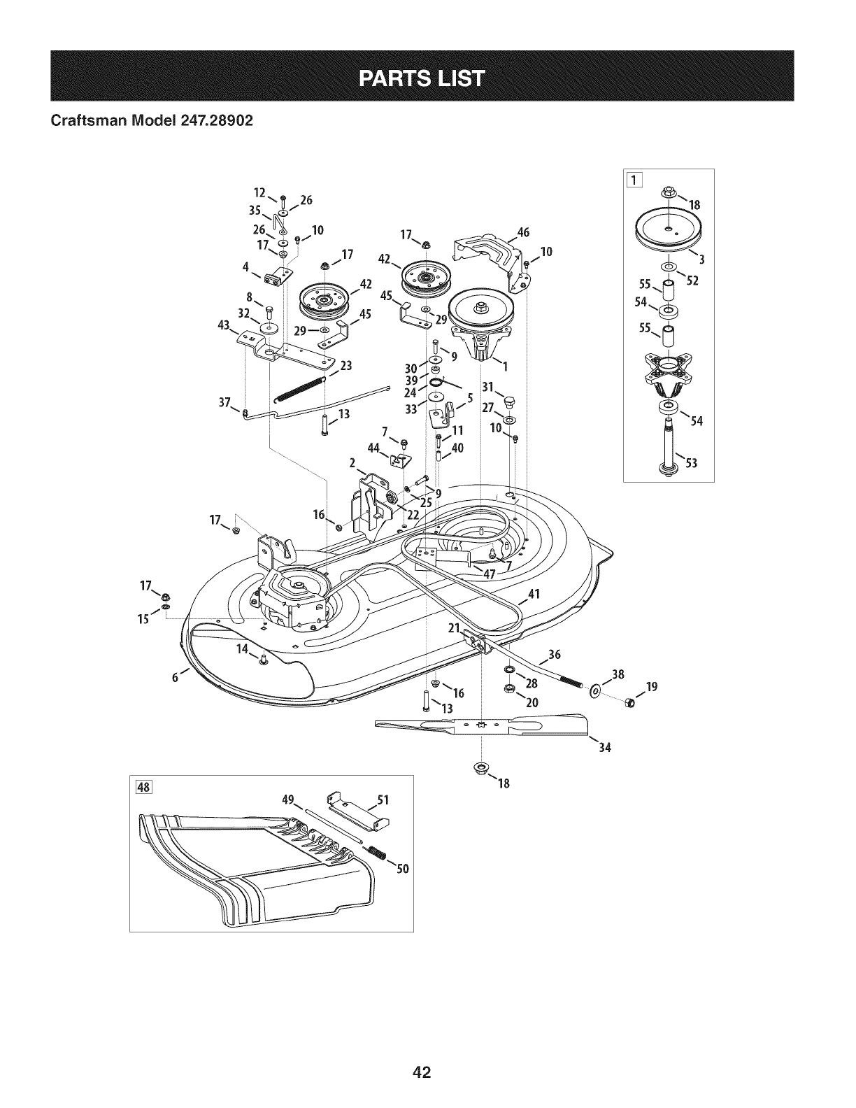 Page 42 of Craftsman Lawn Mower 247.28902 User Guide