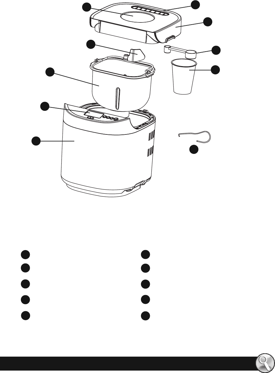 Page 3 of Oster Bread Maker CKSTBRTW20 User Guide