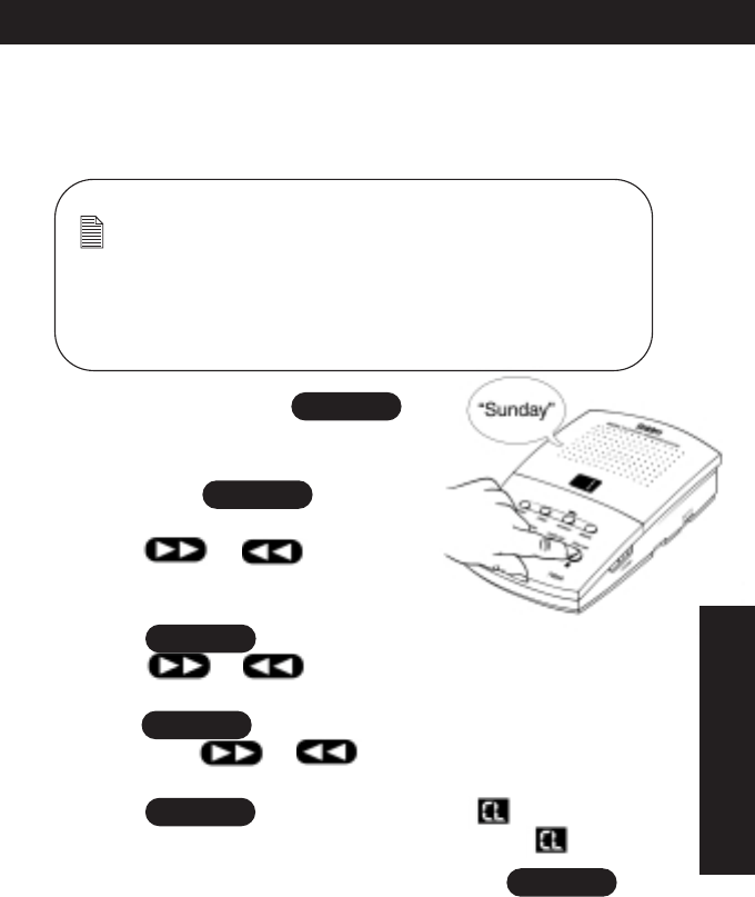 Page 19 of Uniden Answering Machine 7000A User Guide