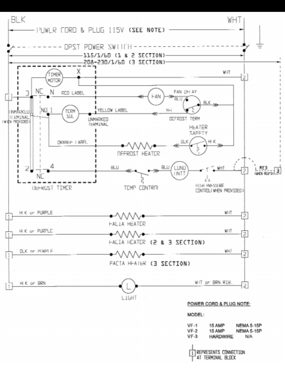 medium resolution of page of victory refrigeration refrigerator vr user guide 1 2 3 section zer wiring diagram