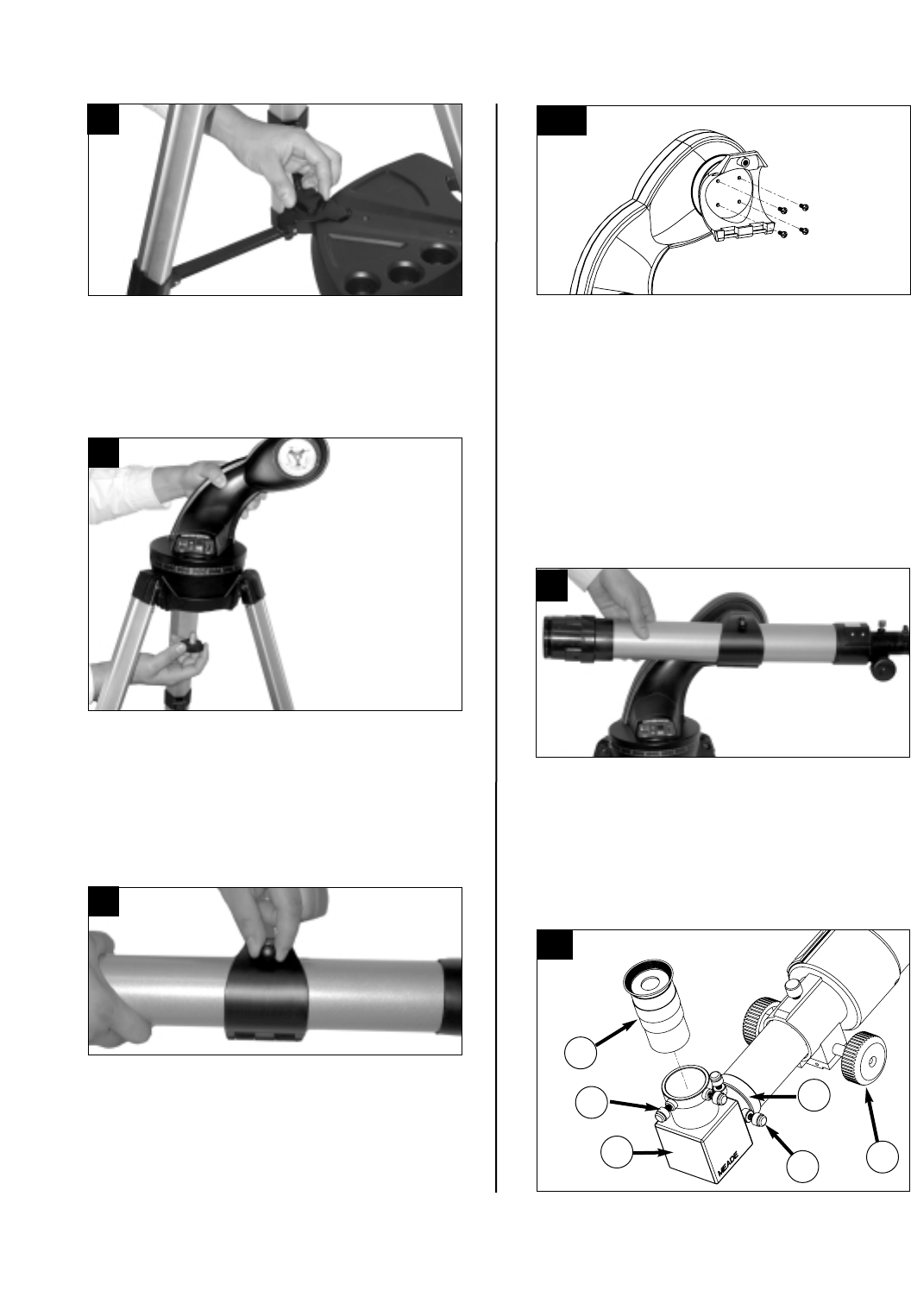 Page 4 of Meade Telescope DS-2000 User Guide