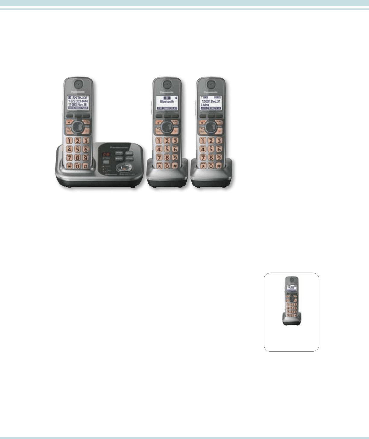 Page 8 of Panasonic Cordless Telephone KXTG4732B User