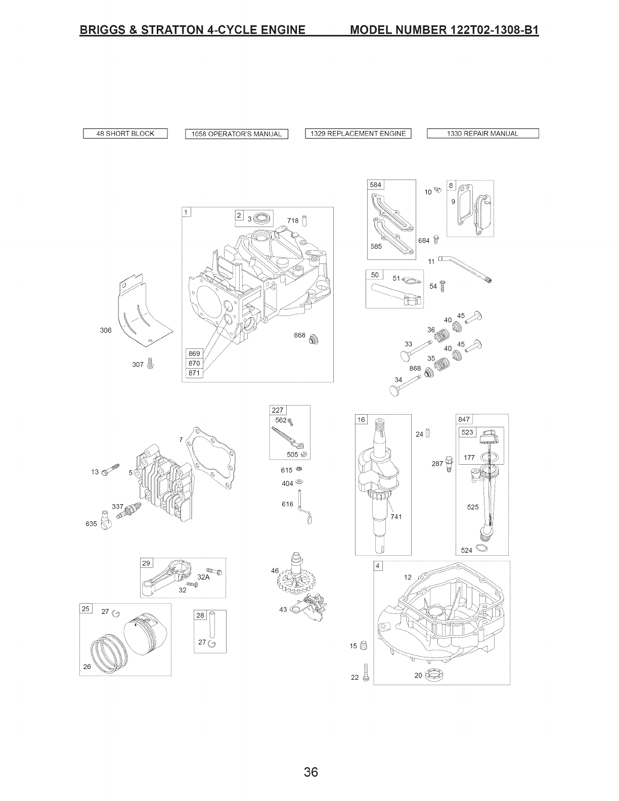 Page 36 of Craftsman Lawn Mower 917.389011 User Guide