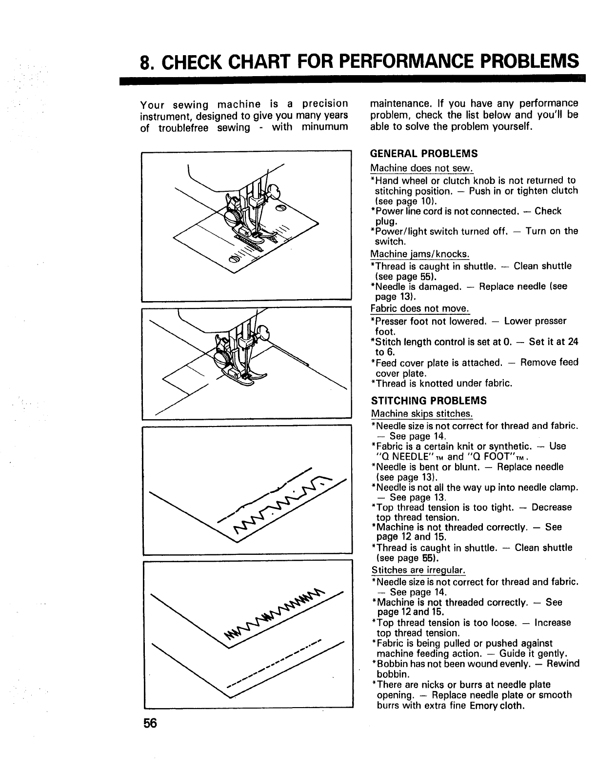 Page 58 of Kenmore Sewing Machine 10101 User Guide