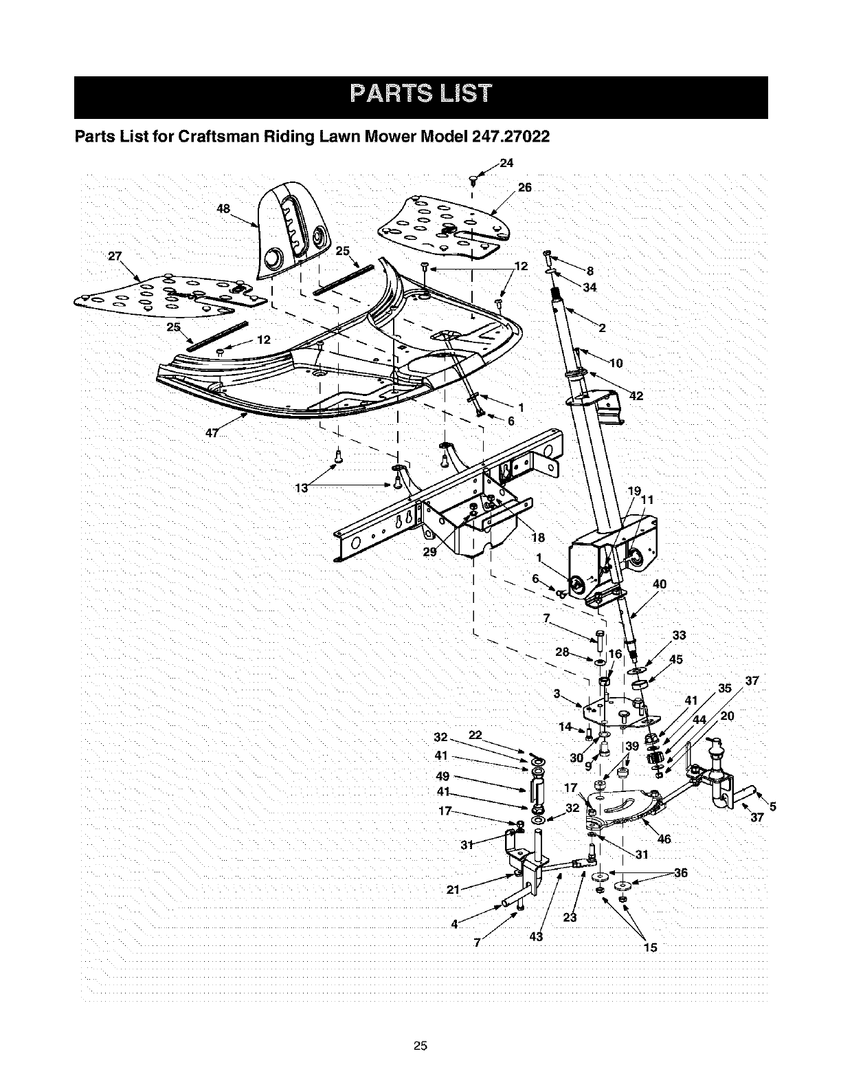 Page 25 of Craftsman Lawn Mower 247.27022 User Guide