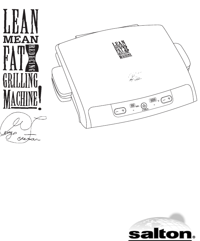 George Foreman Kitchen Grill GRP99 User Guide