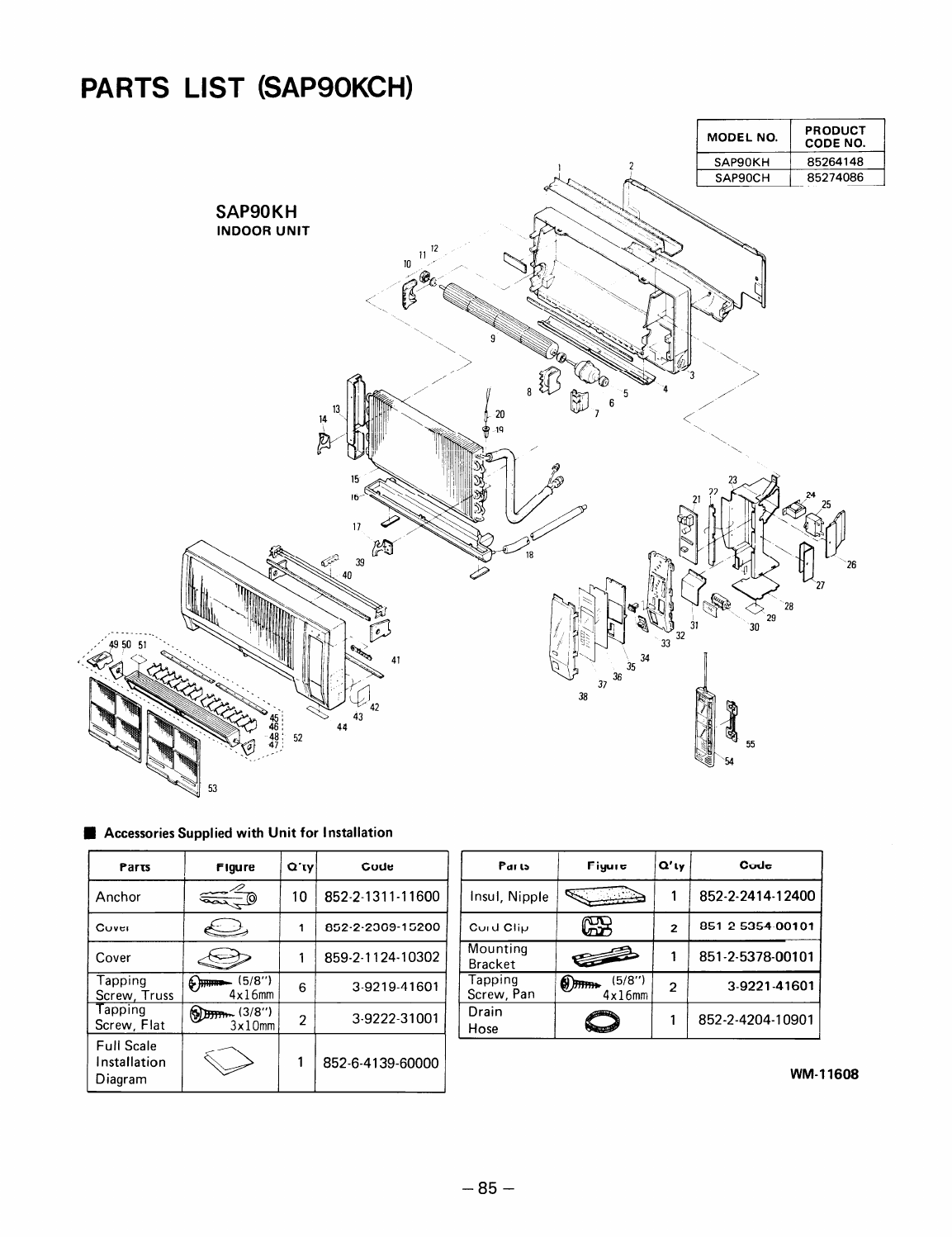 Page 90 of Sanyo Air Conditioner SAP91KC User Guide