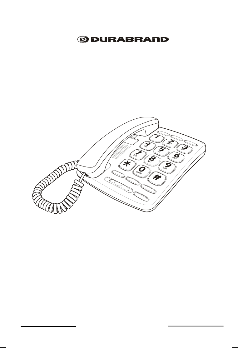 Lenoxx Electronics Telephone PH-417 User Guide