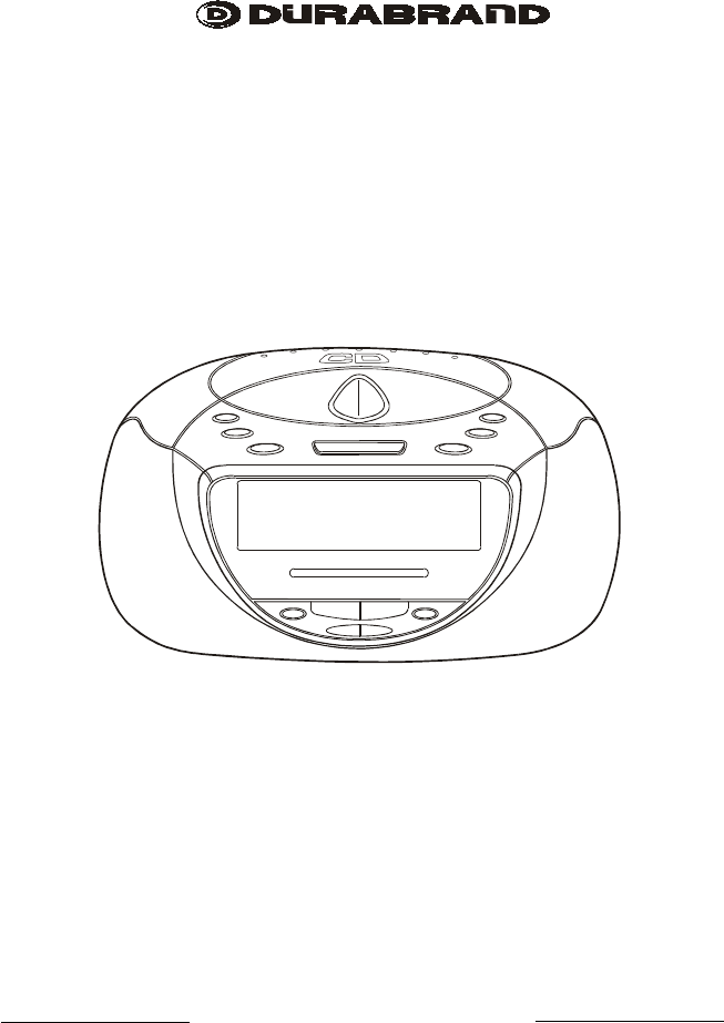 Lenoxx Electronics CD Player CDR-1902 User Guide