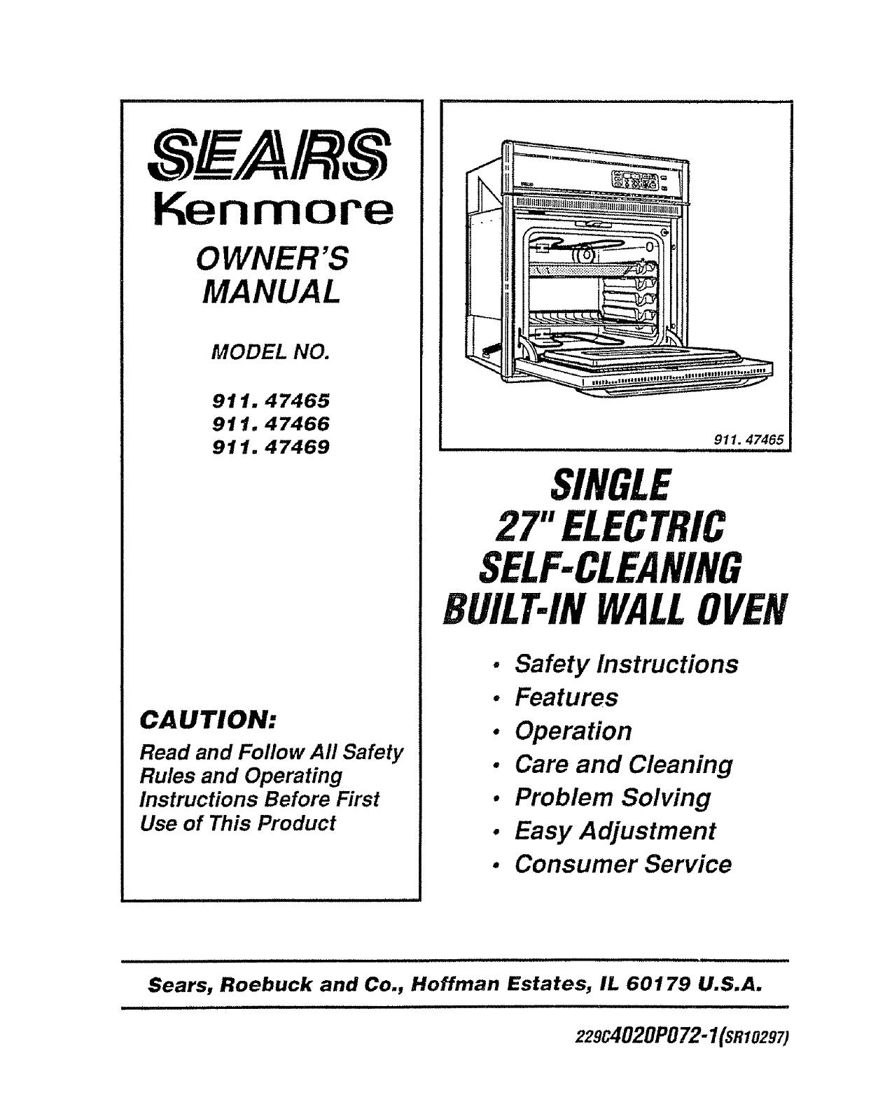 Kenmore Oven: Kenmore Oven Manuals Online