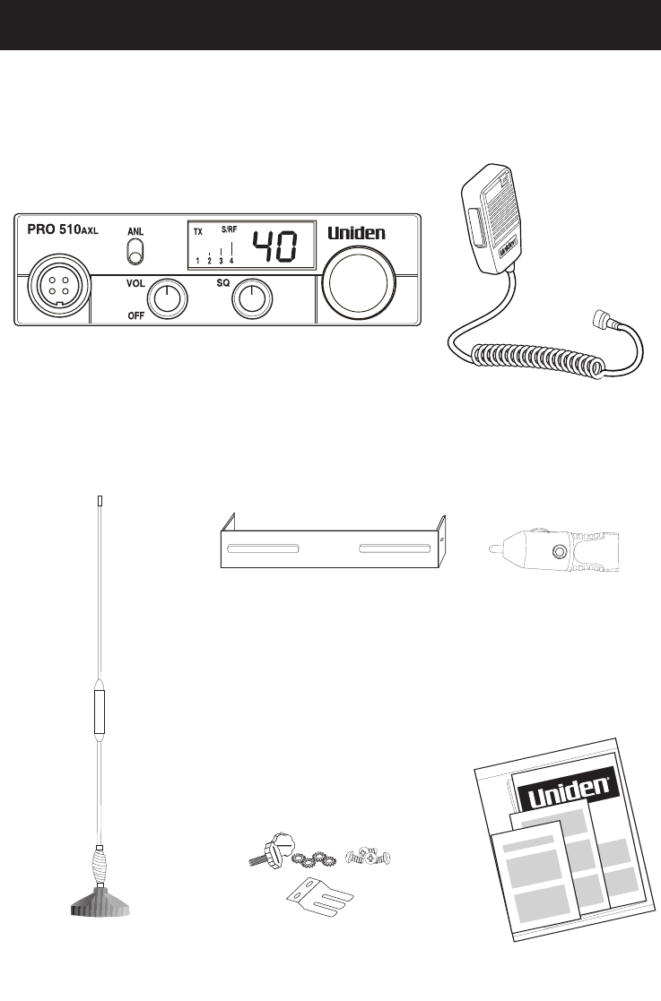 Page 3 of Uniden Two-Way Radio PRO510AXL User Guide