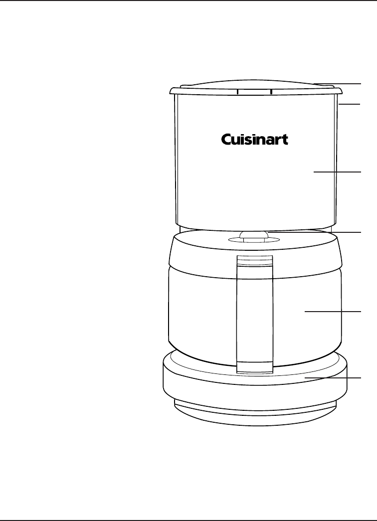 Page 5 of Cuisinart Coffeemaker DCC-450 User Guide
