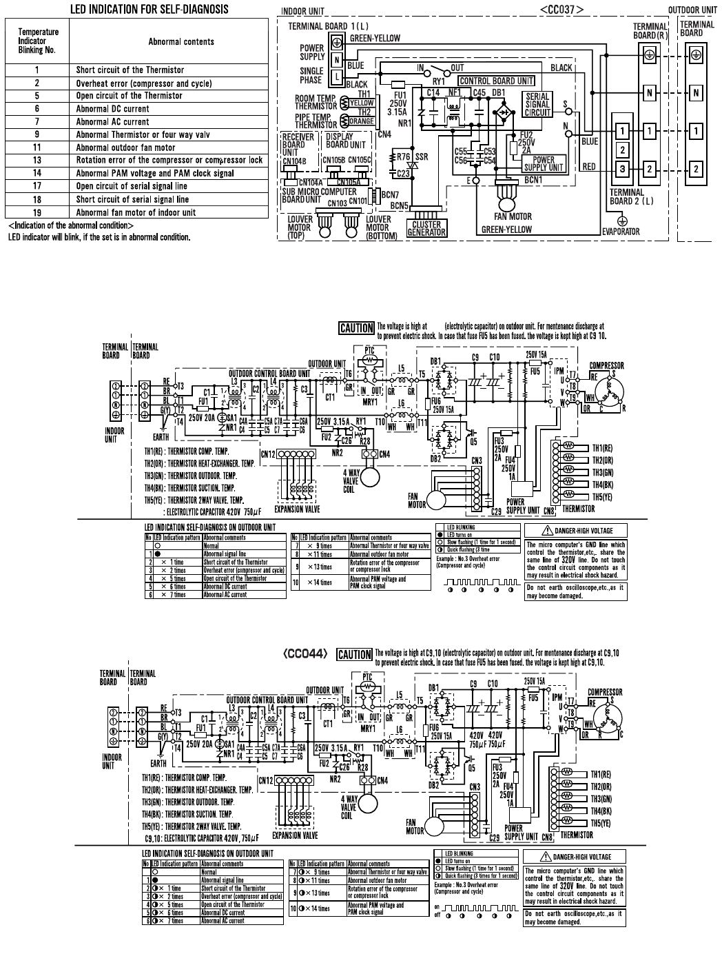 Page 6 of Sharp Air Conditioner AE-X9FR User Guide