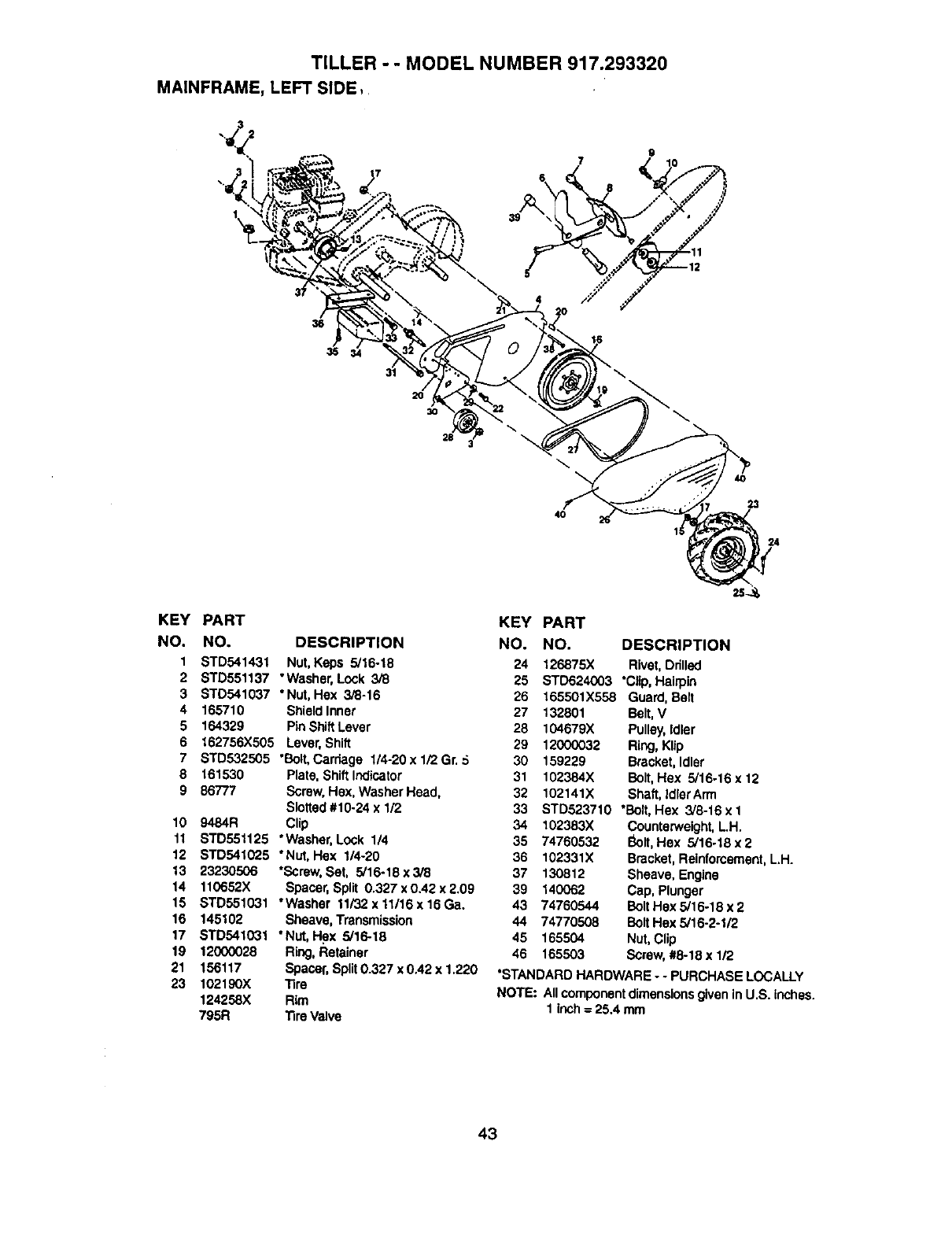 Page 23 of Craftsman Tiller 917.29332 User Guide