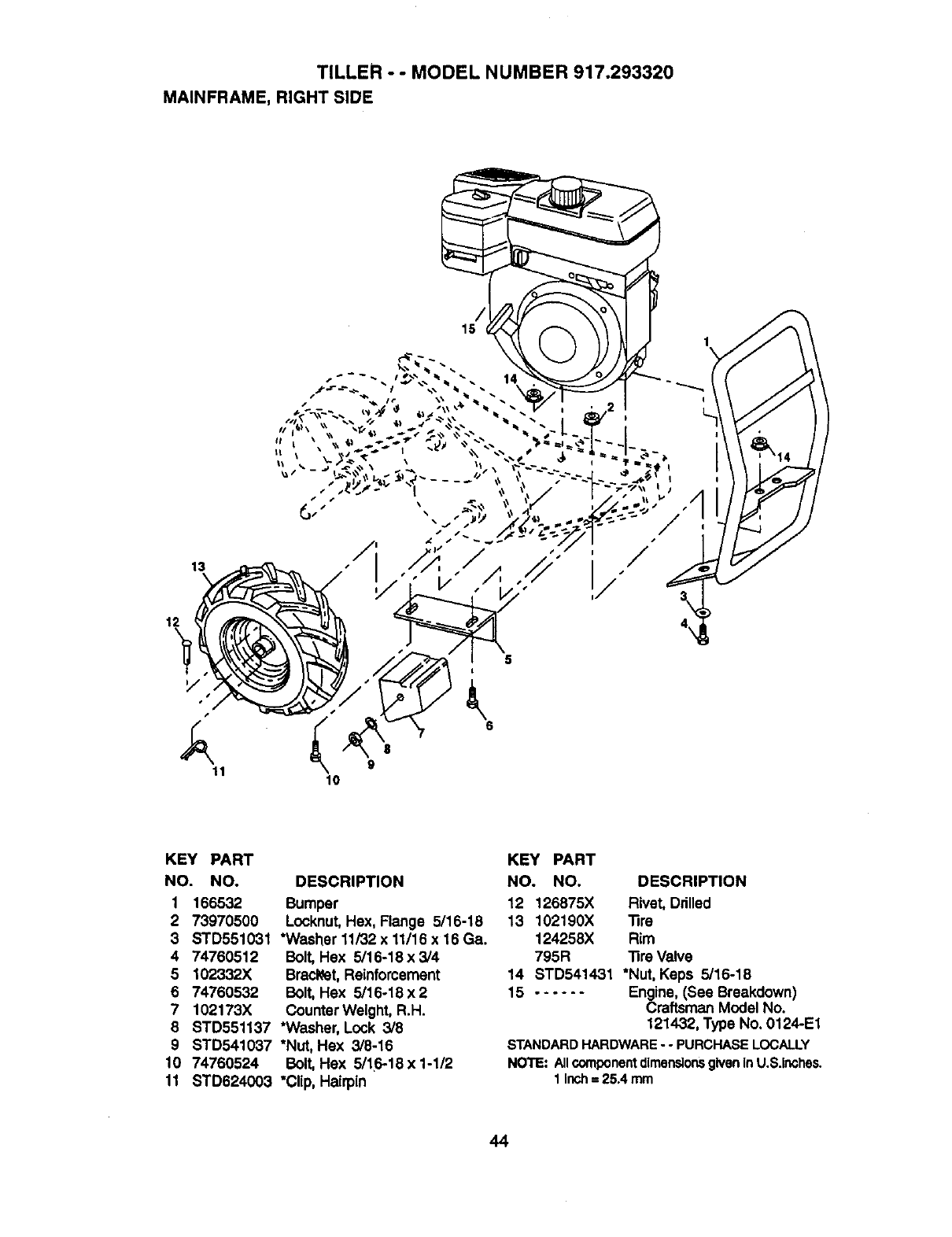 Page 24 of Craftsman Tiller 917.29332 User Guide