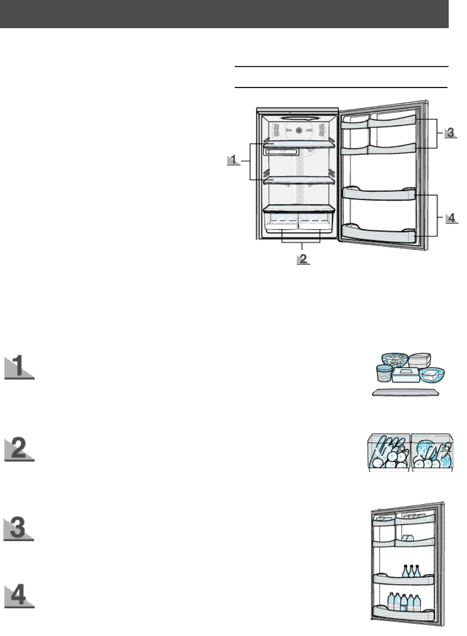 Page 9 of Samsung Refrigerator RB1855SL User Guide