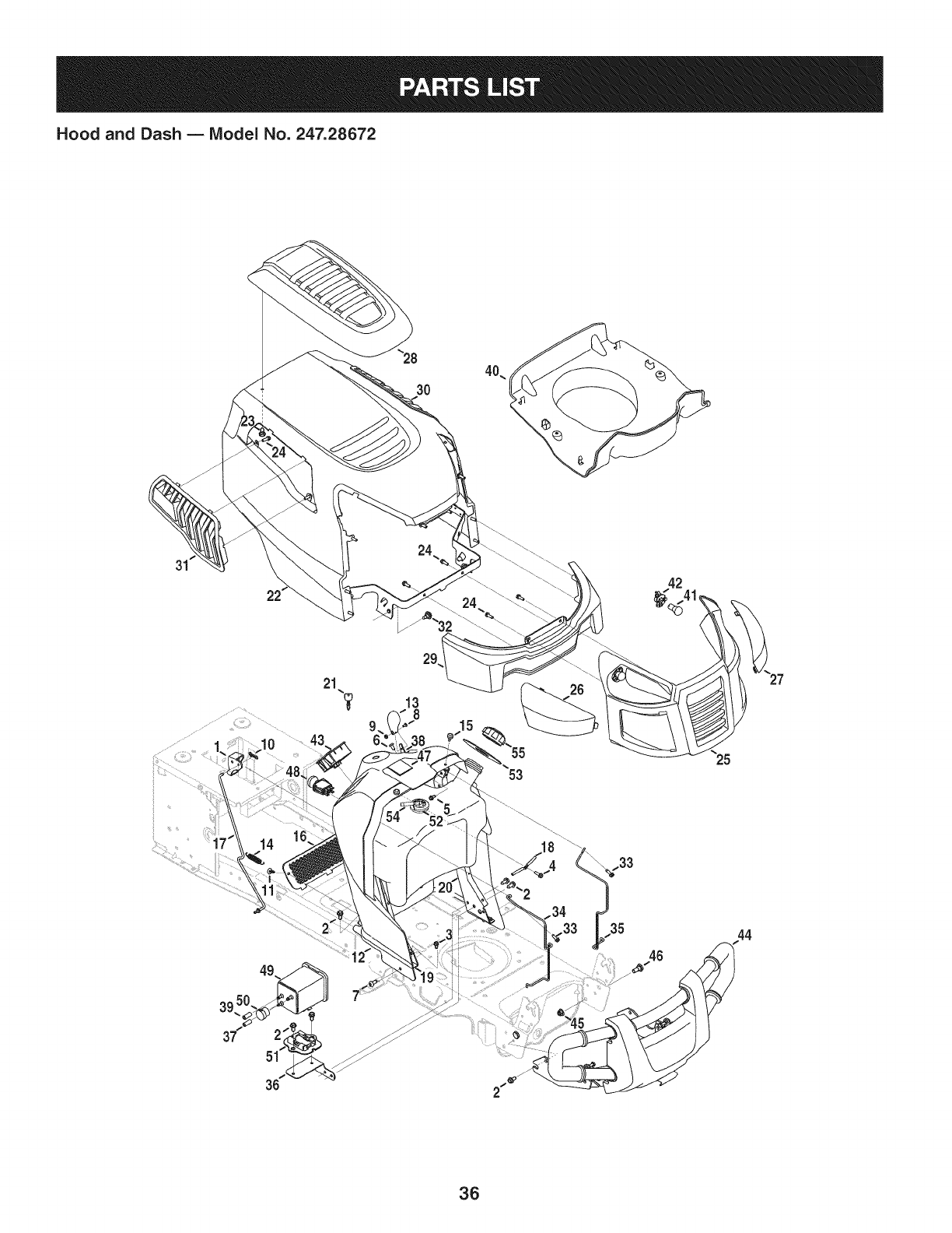 Page 36 of Craftsman Lawn Mower PYT 9000 User Guide