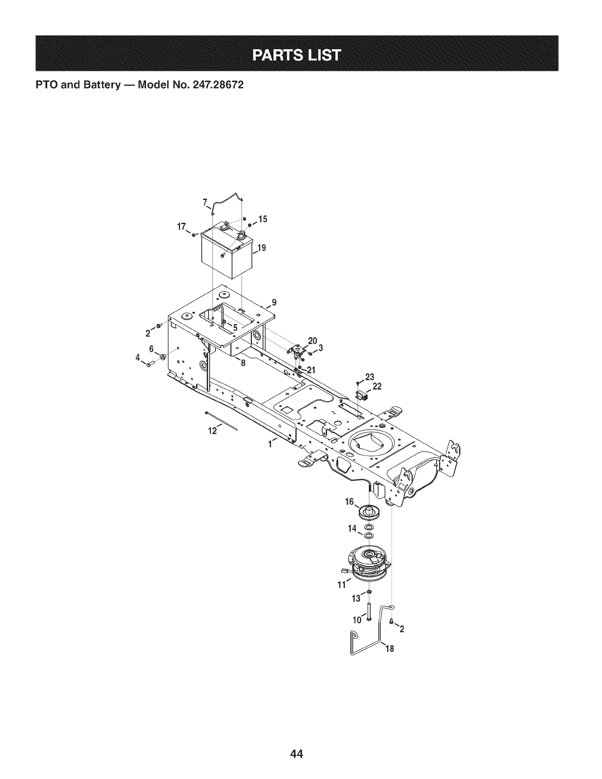 Page 44 of Craftsman Lawn Mower PYT 9000 User Guide