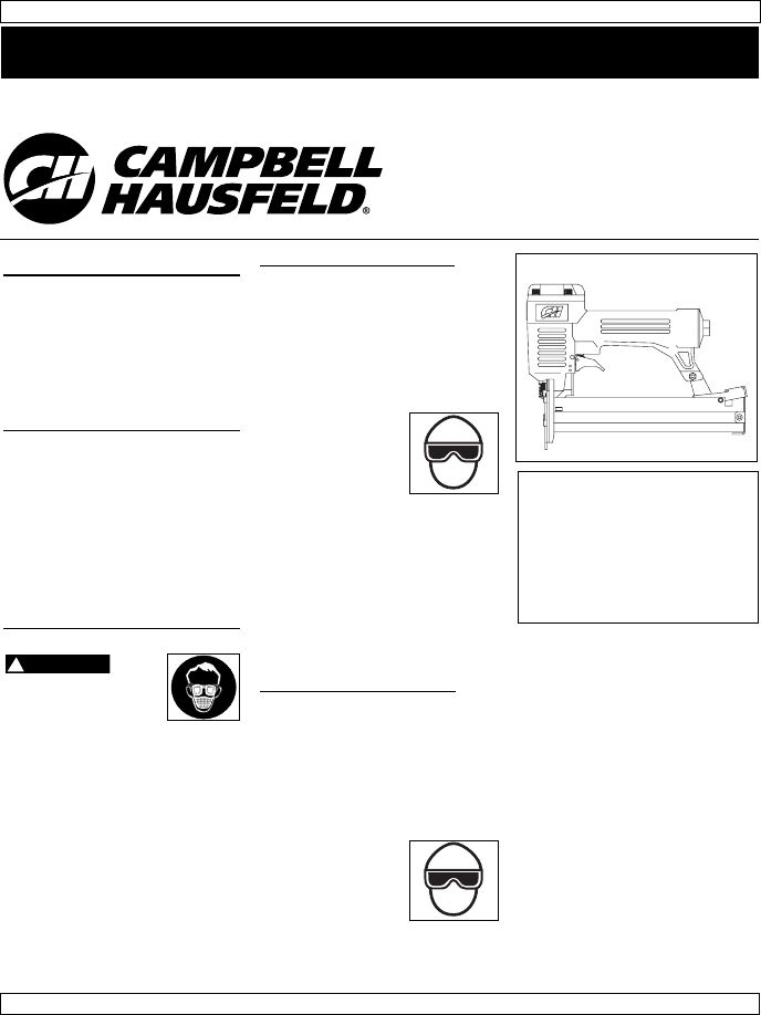 Campbell Hausfeld Nail Gun SB3232 User Guide
