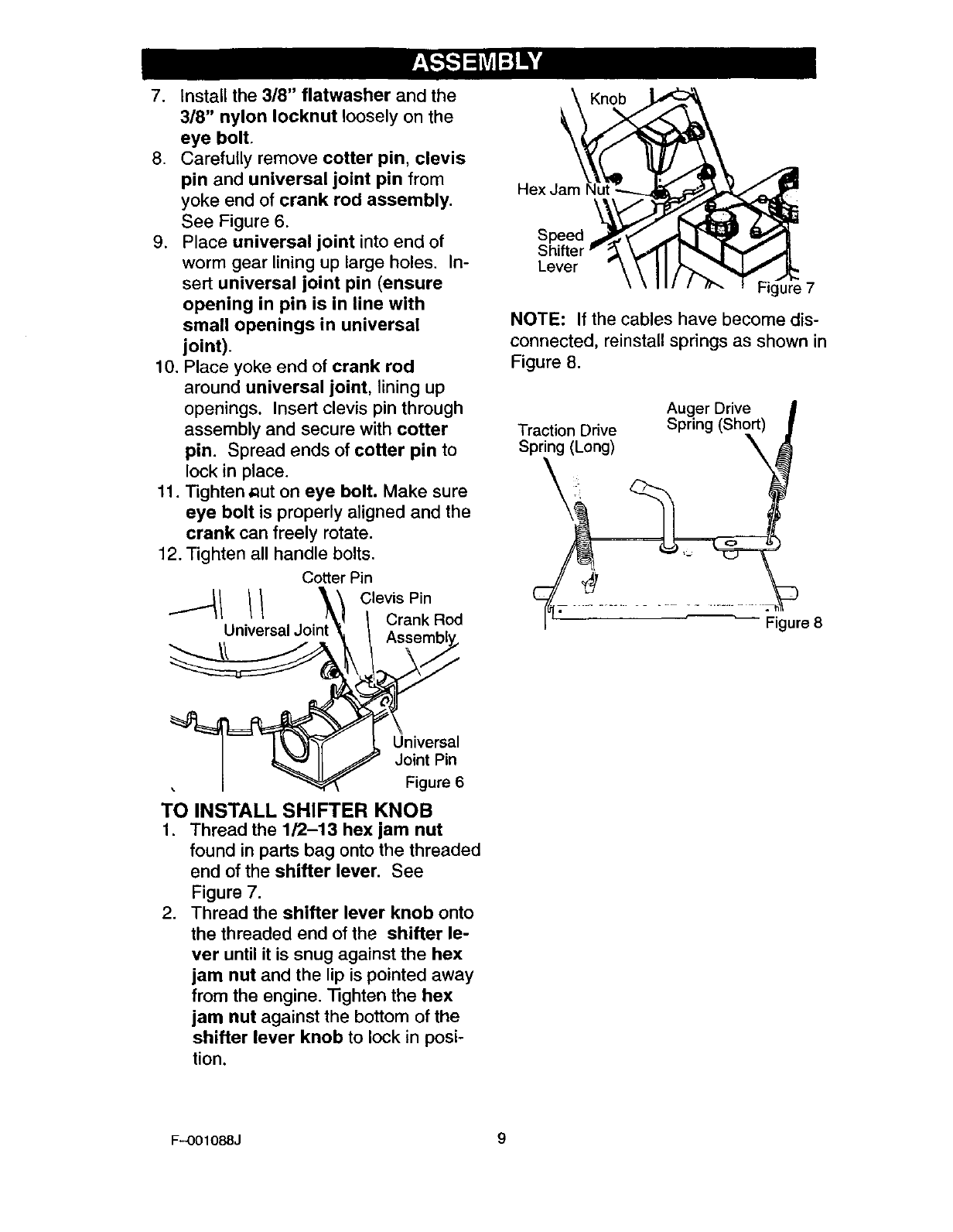 Page 9 of Craftsman Snow Blower 536.88626 User Guide