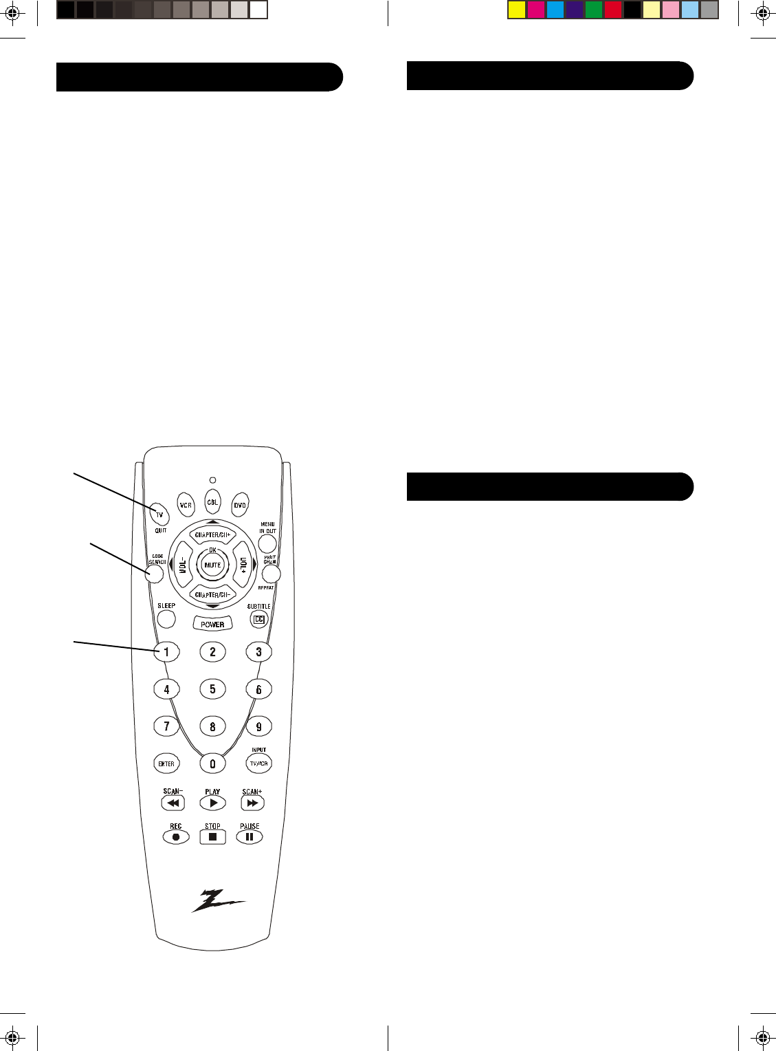 Page 7 of Zenith Universal Remote ZN-411 User Guide