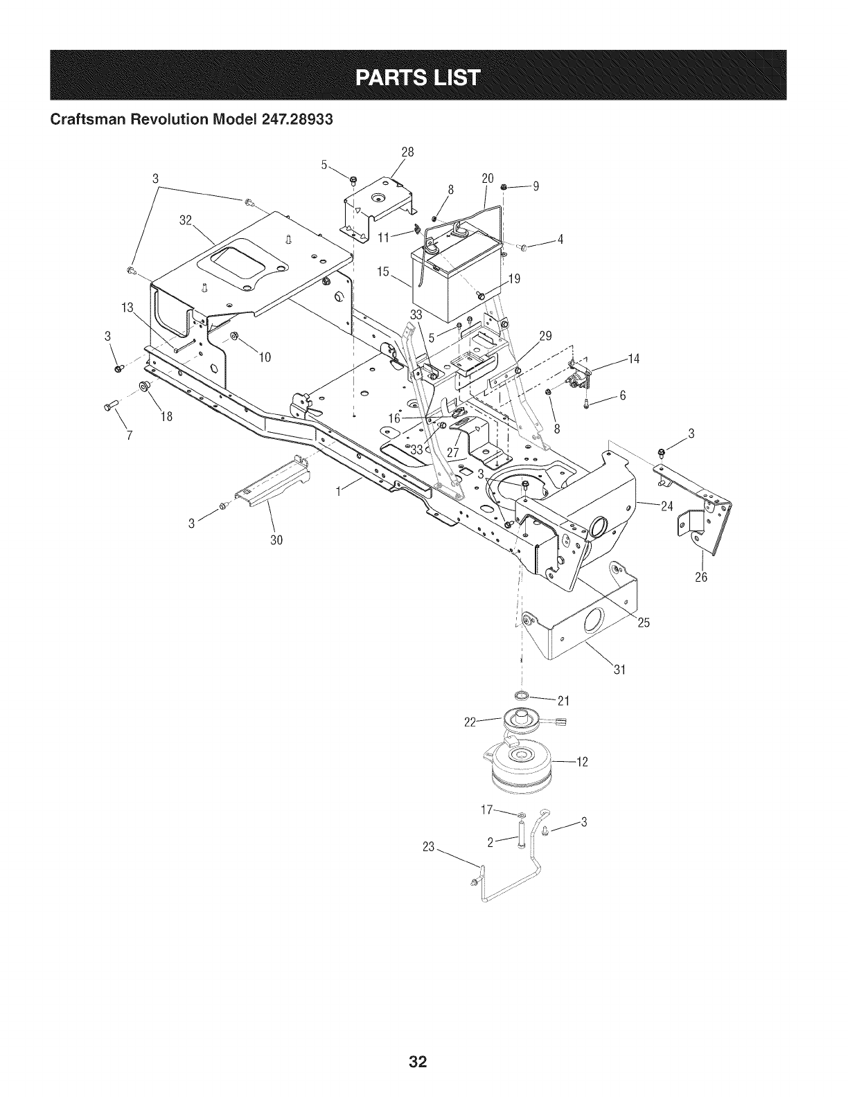 Page 32 of Craftsman Lawn Mower 247.28933 User Guide