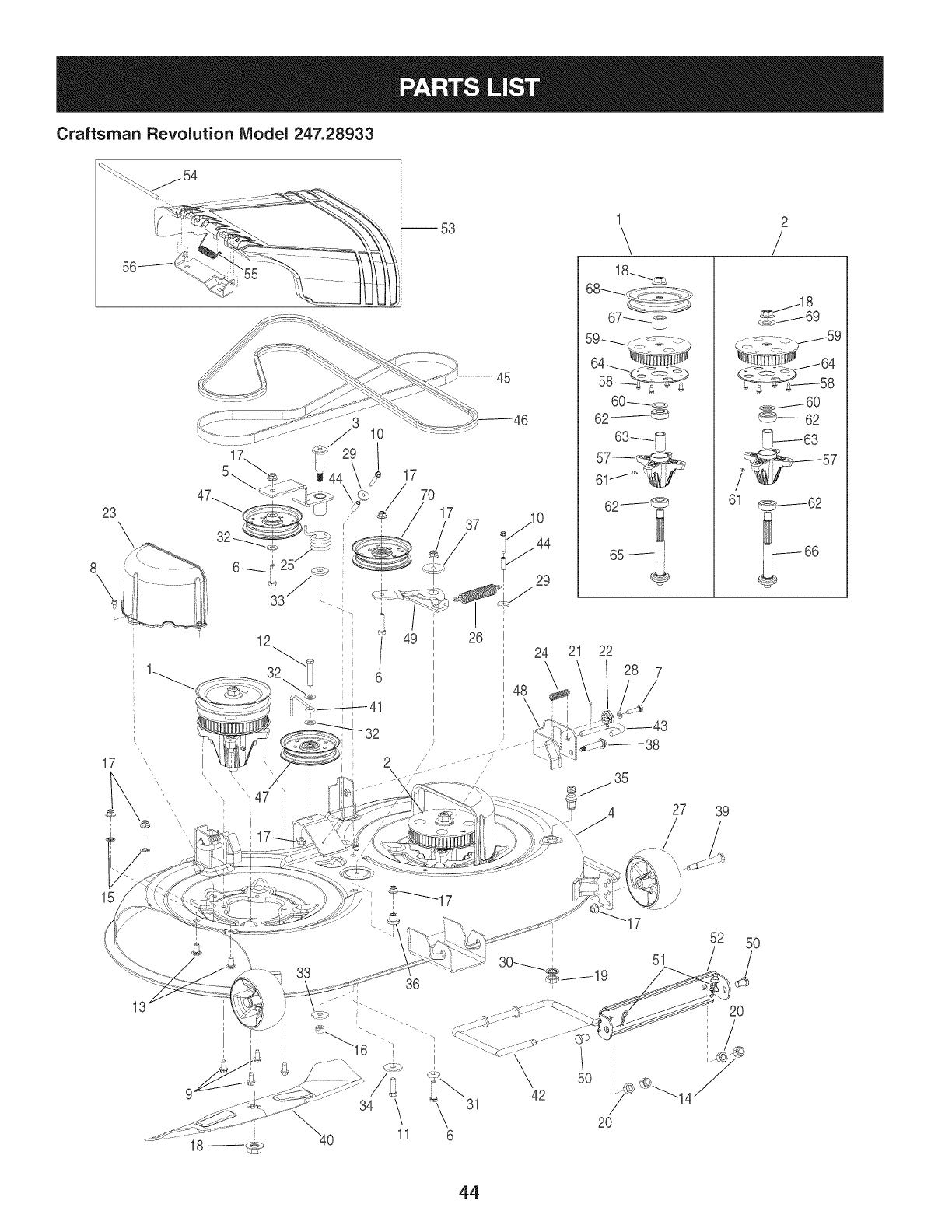 Page 44 of Craftsman Lawn Mower 247.28933 User Guide