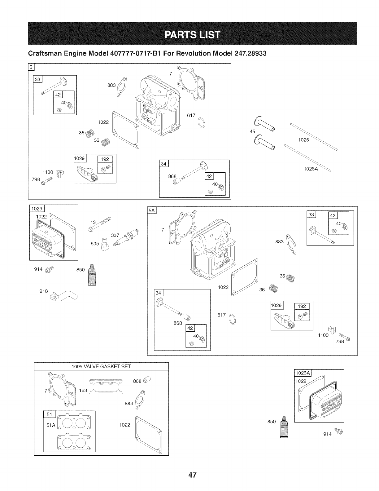 Page 47 of Craftsman Lawn Mower 247.28933 User Guide