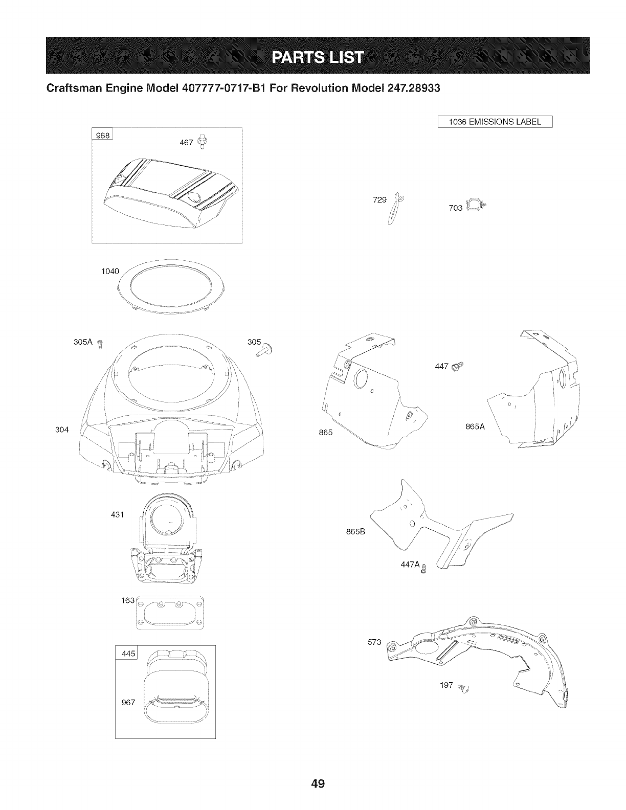 Page 49 of Craftsman Lawn Mower 247.28933 User Guide