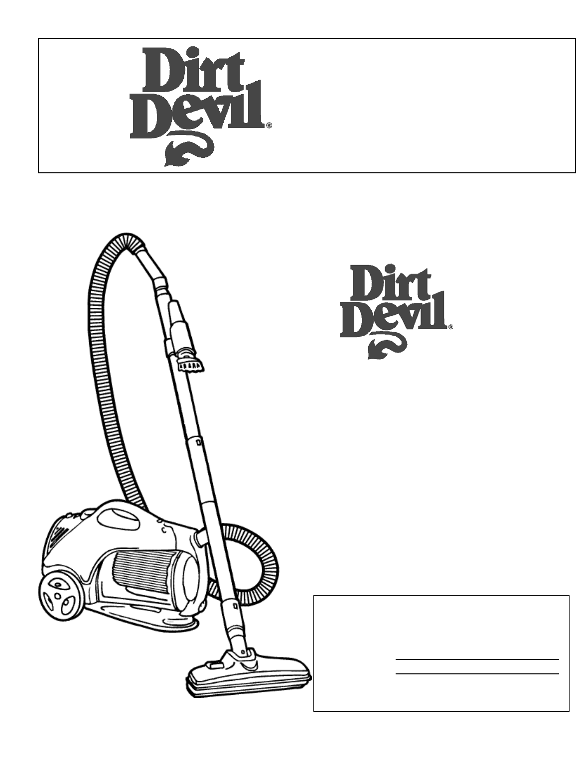 Dirt Devil Vacuum Cleaner Upright Bag Vacuum Cleaner User