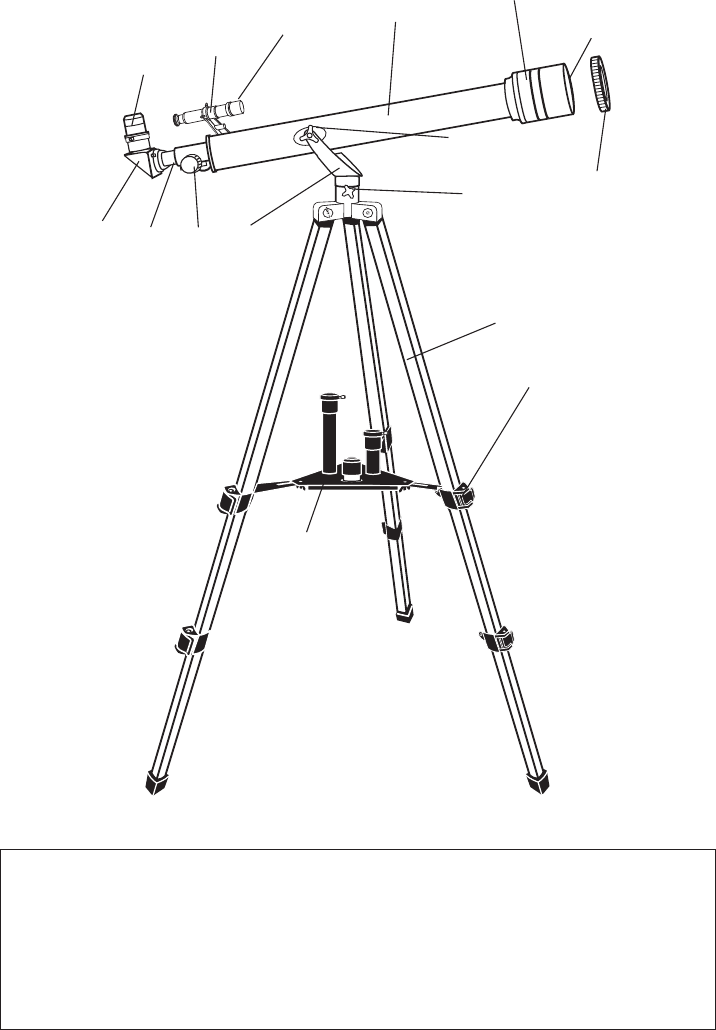 Page 3 of Bushnell Telescope 181561 User Guide