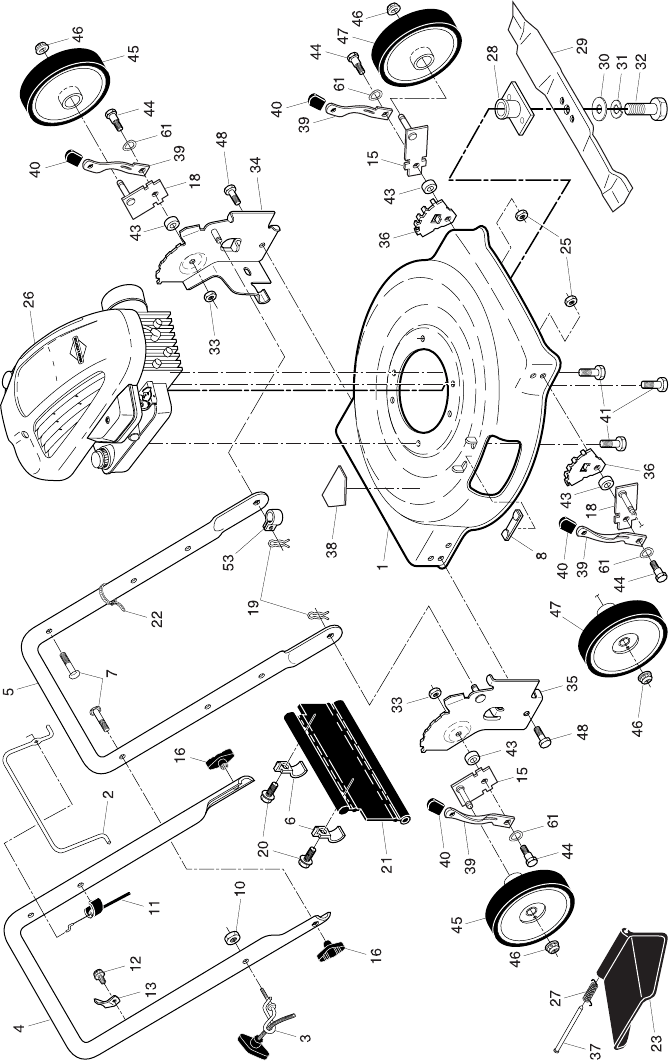 Page 3 of Poulan Lawn Mower 96112004100 User Guide