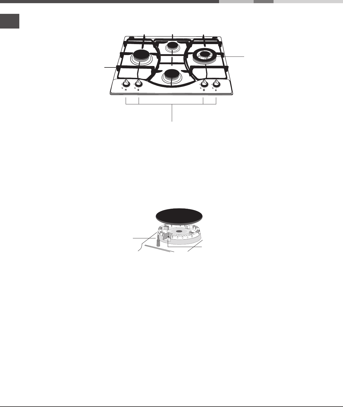 Page 6 of Ariston Cooktop PH640MT PR User Guide