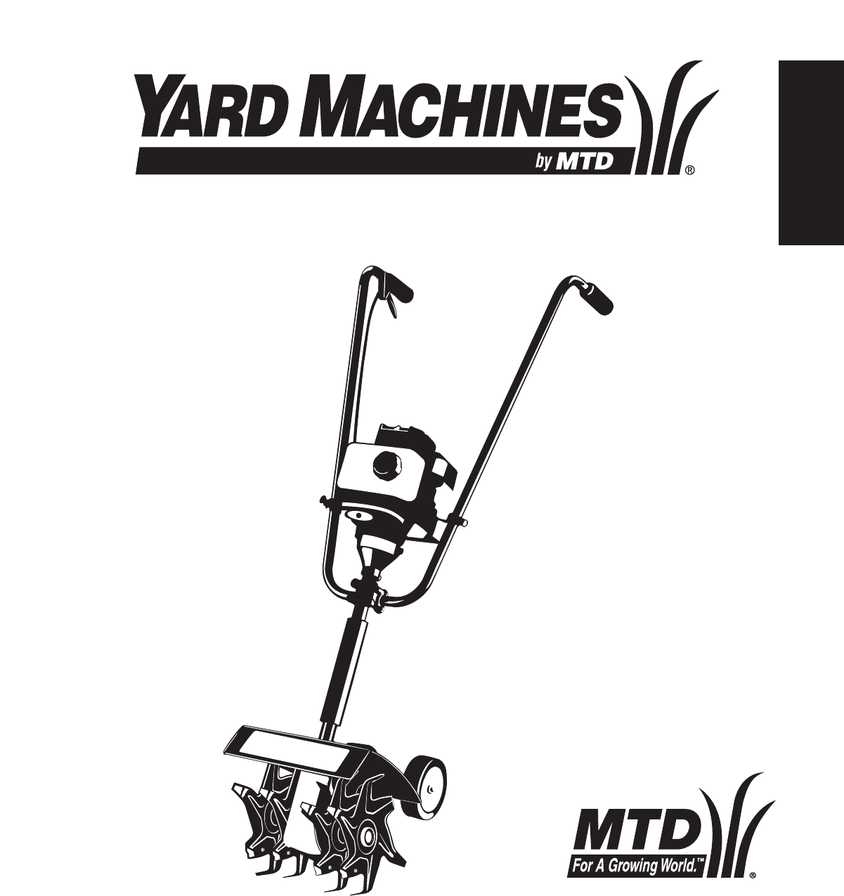 Yard Machines Cultivator 2- Cycle Gas Cultivator User