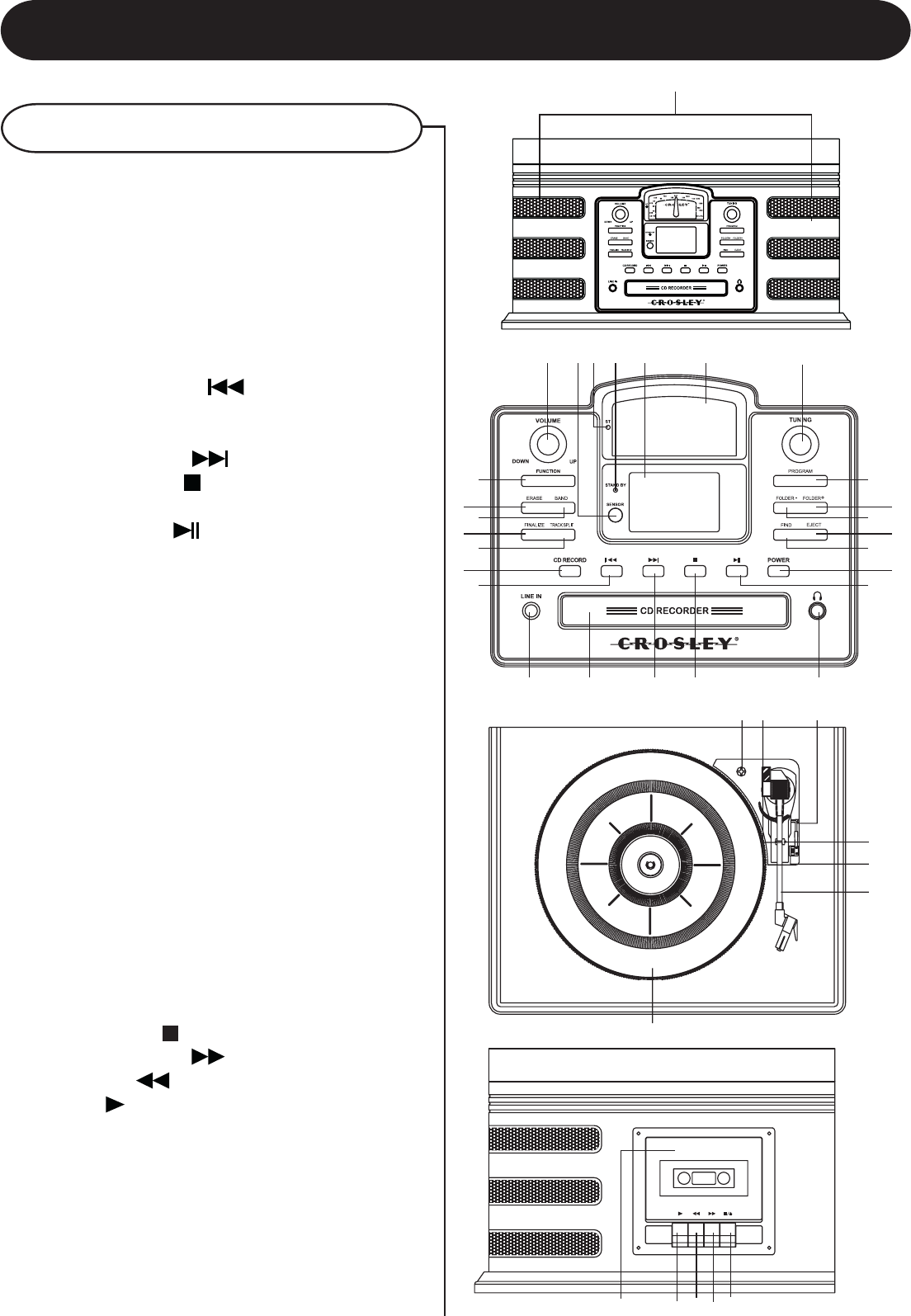 Page 6 of Crosley Radio CD Player CR2406A User Guide