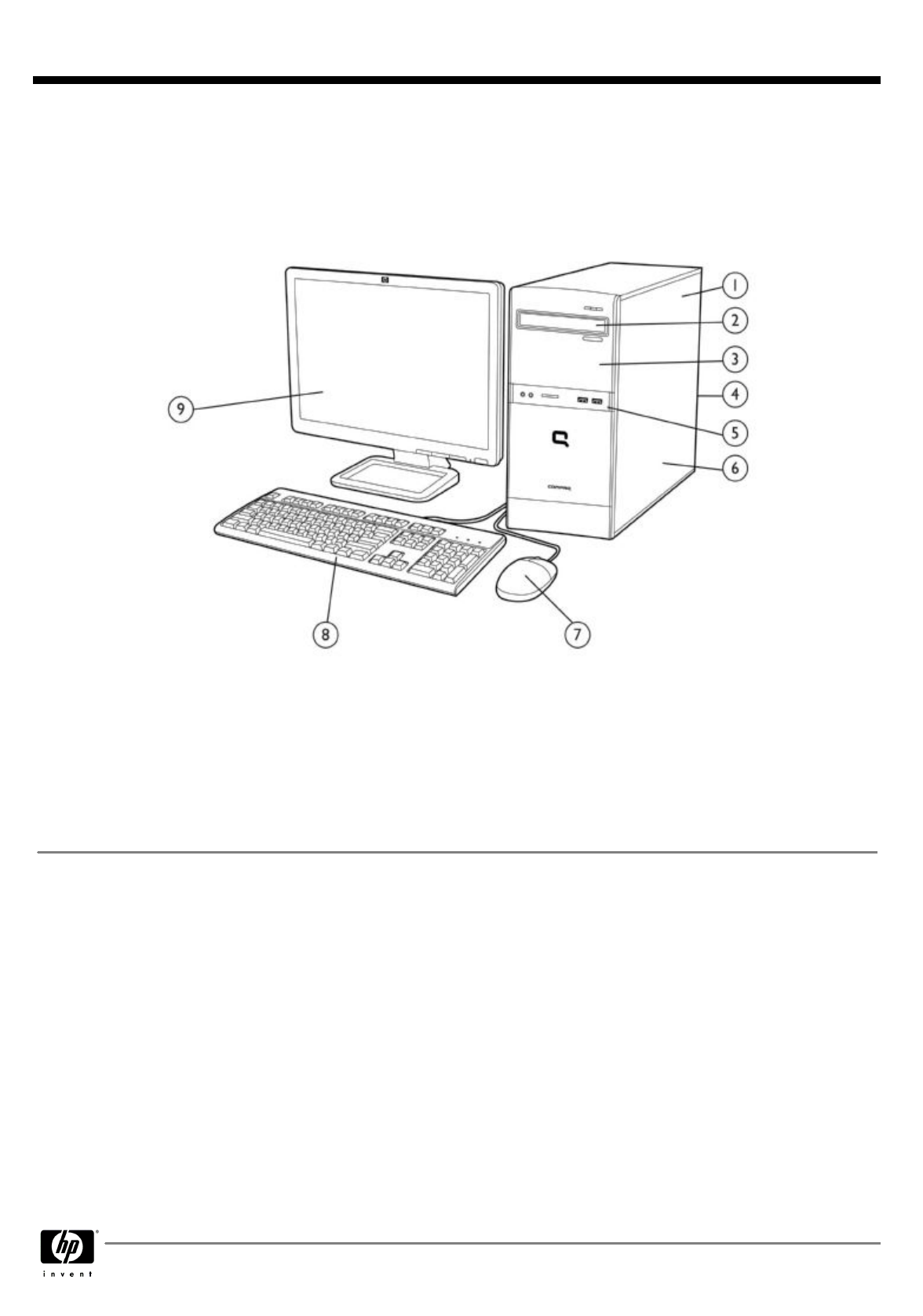 HP (Hewlett-Packard) Personal Computer 500B User Guide