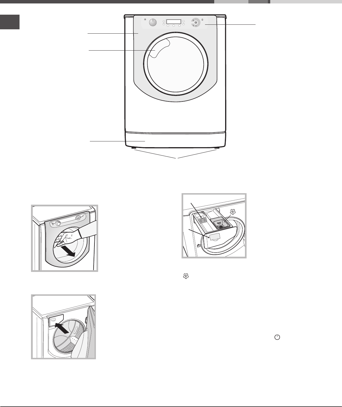 Page 6 of Hotpoint Washer/Dryer AQD1170F 697 E User Guide