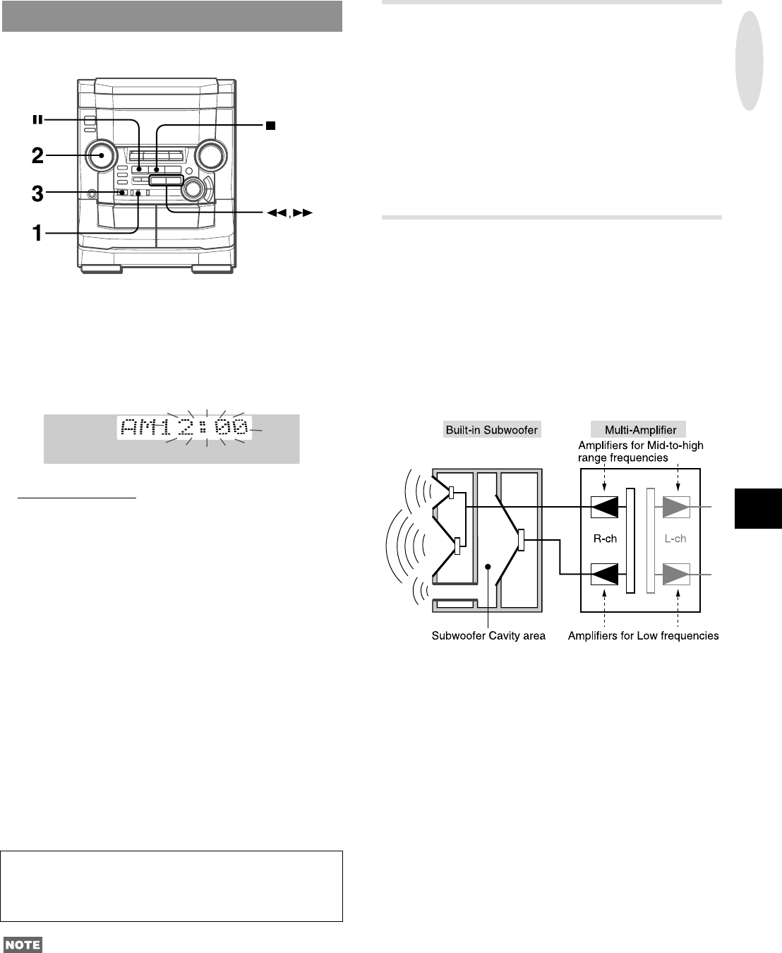 Page 7 of Aiwa Stereo System NSX-AJ50 User Guide