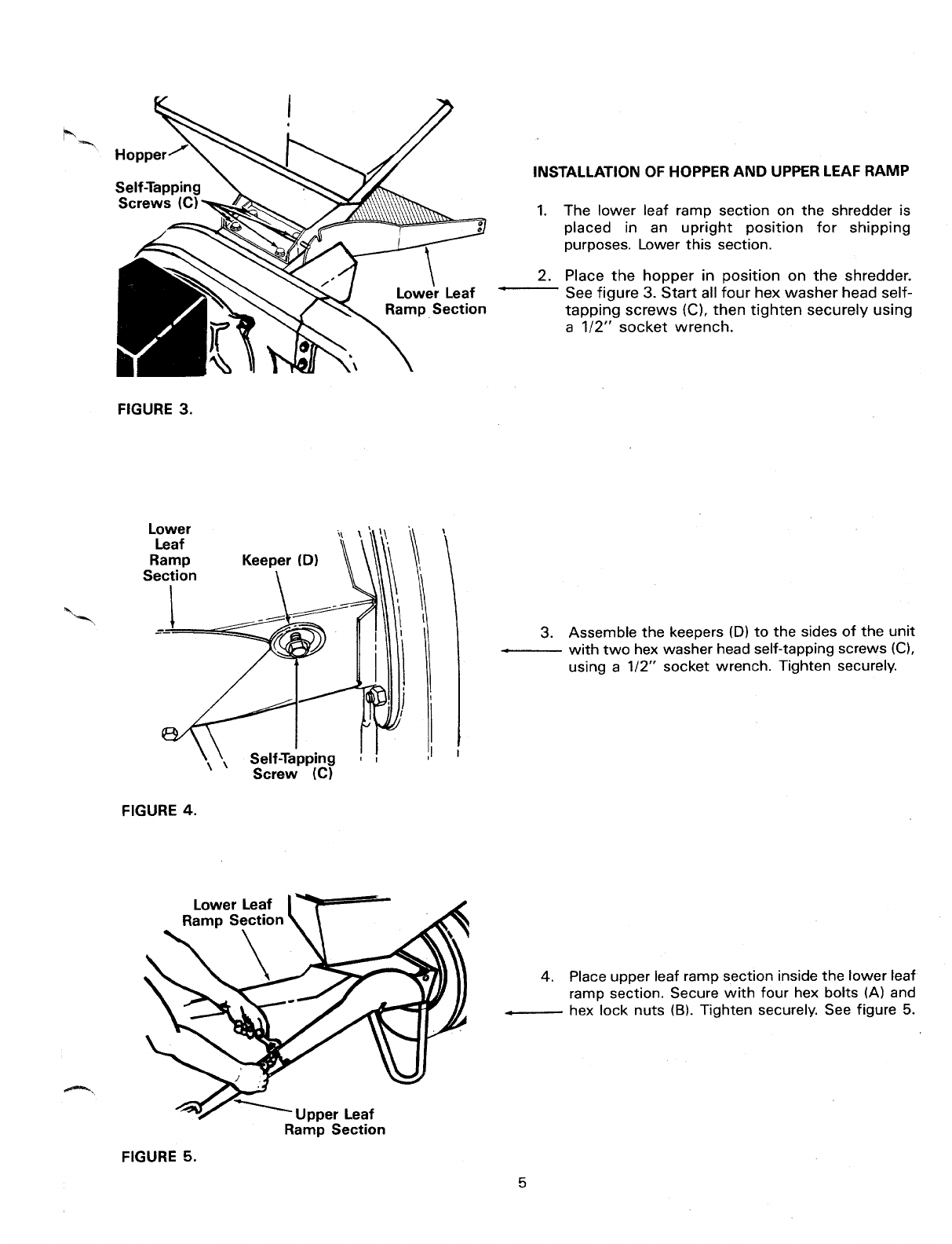 Page 5 of MTD Chipper 240-650-000 User Guide