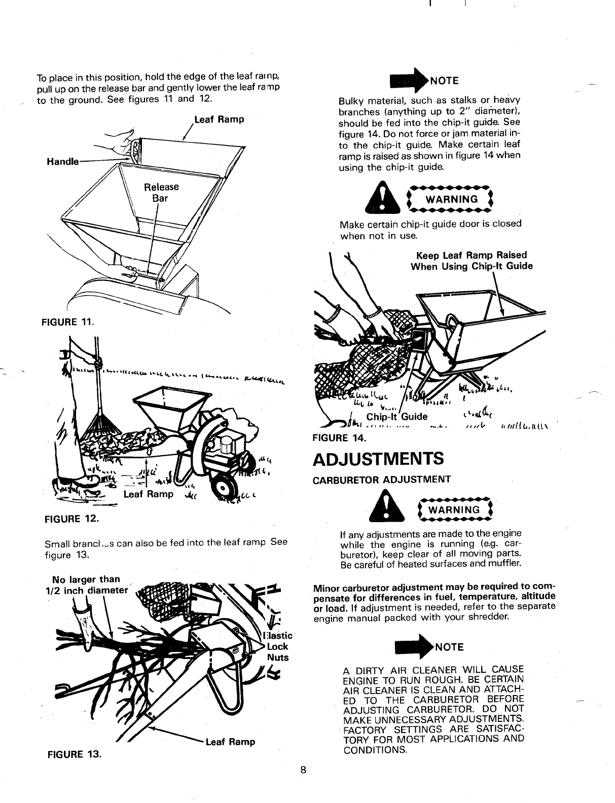Page 8 of MTD Chipper 240-650-000 User Guide